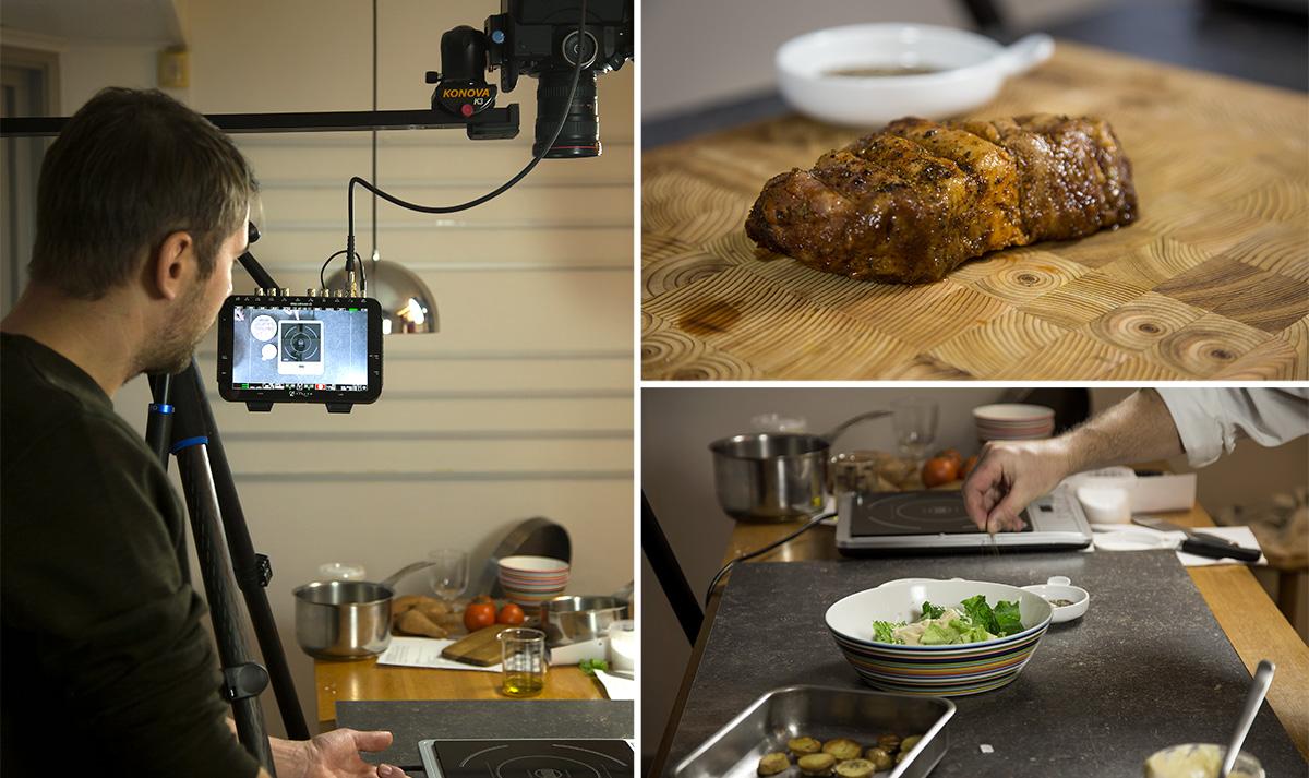 Vi gick in i studion med Matkomfort, för att spela in en rad nya matfilmer