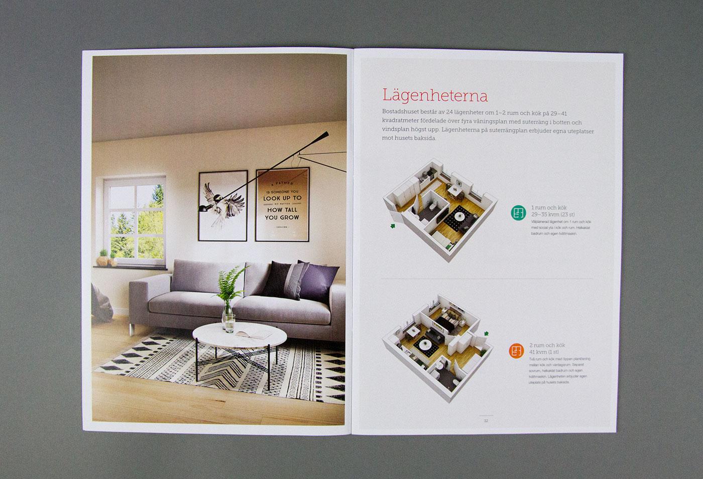 Uppslag i katalogen med lägenhetsinformation