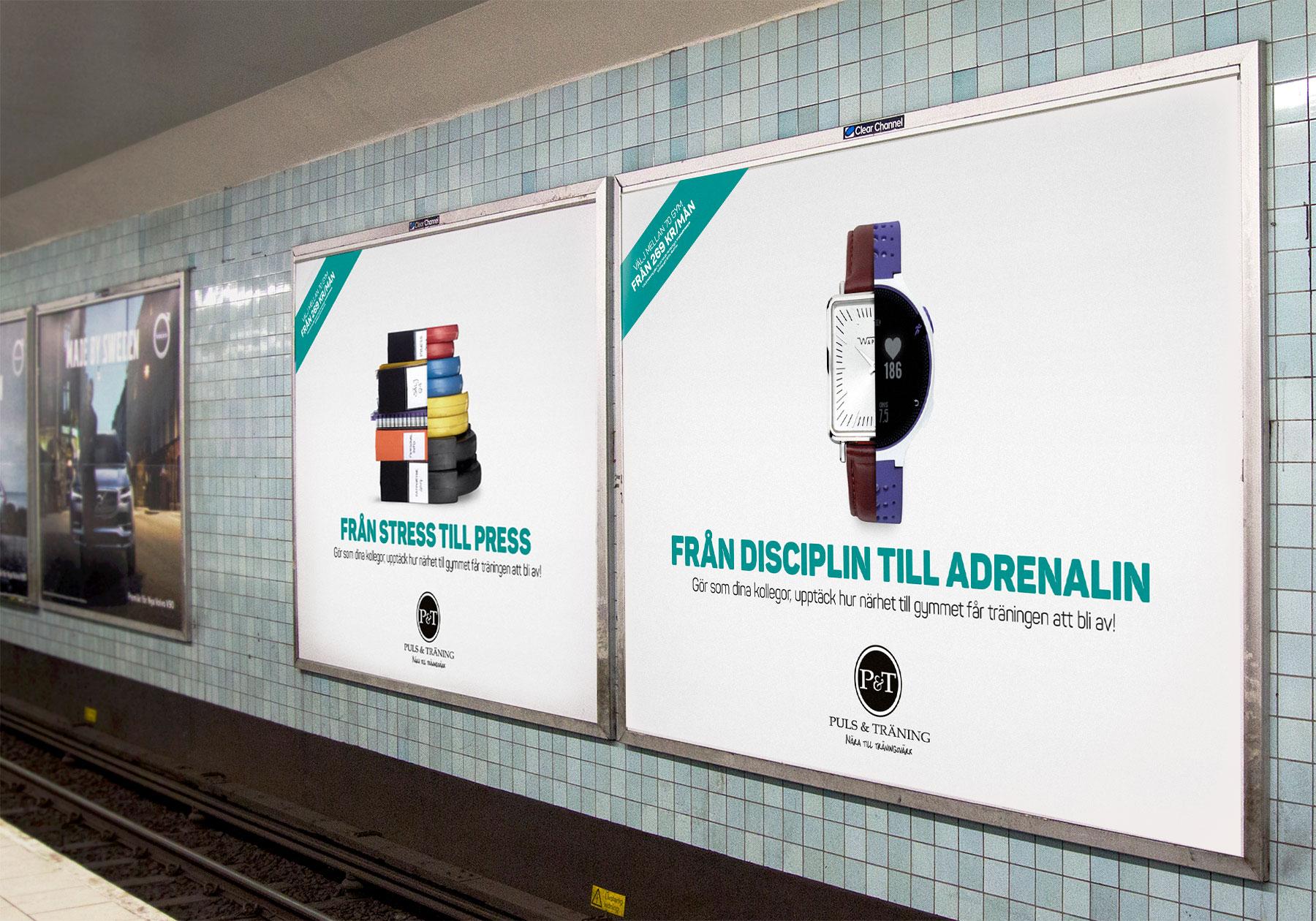 Reklamkampanj för Puls & träning