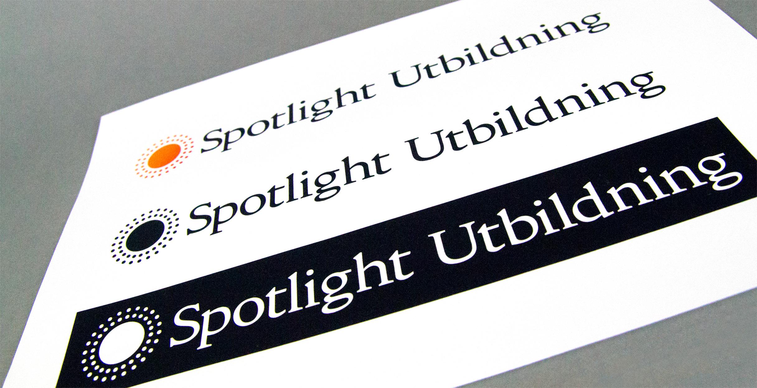 Grafisk profil och logotyp till Spotlight utbildning