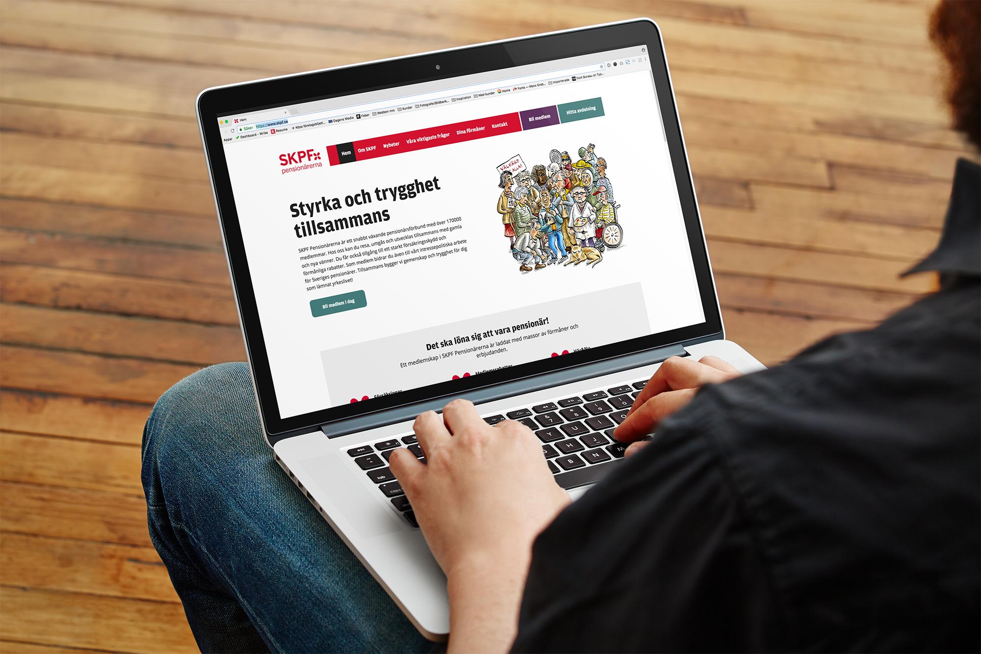 Ny skräddarsydd hemsida för SKPF utvecklad i WordPress