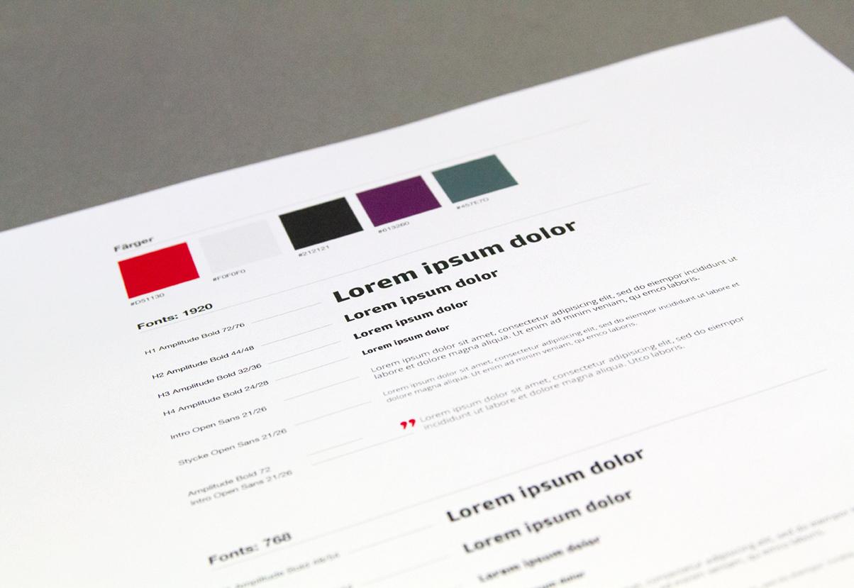 Ny grafisk manual framtagen av Nkel som är en kombinerad reklambyrå, webbyrå och designbyrå i Stockholm