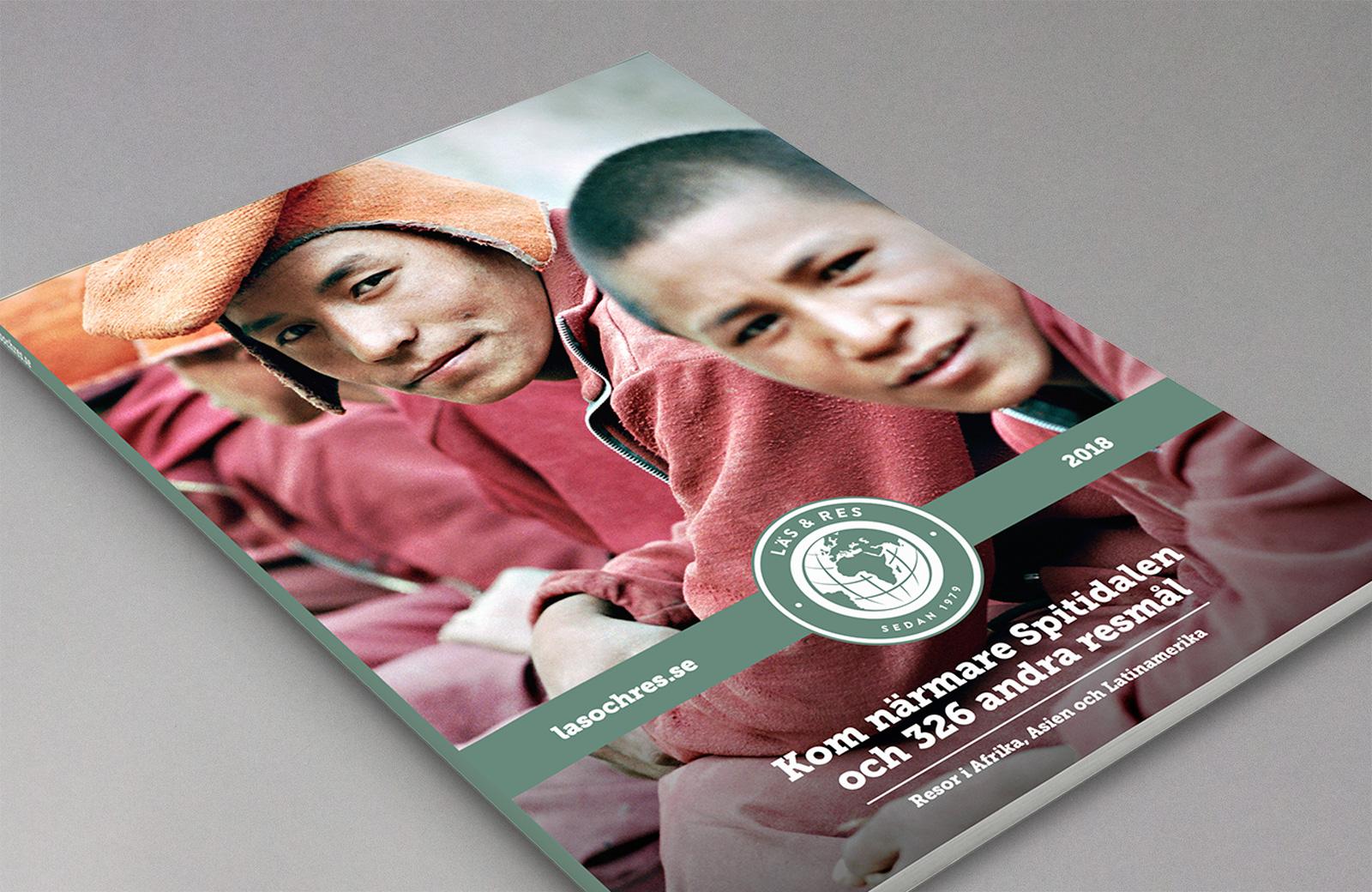 Ny grafisk profil för Läs & Res signerad nkel reklambyrå Stockholm