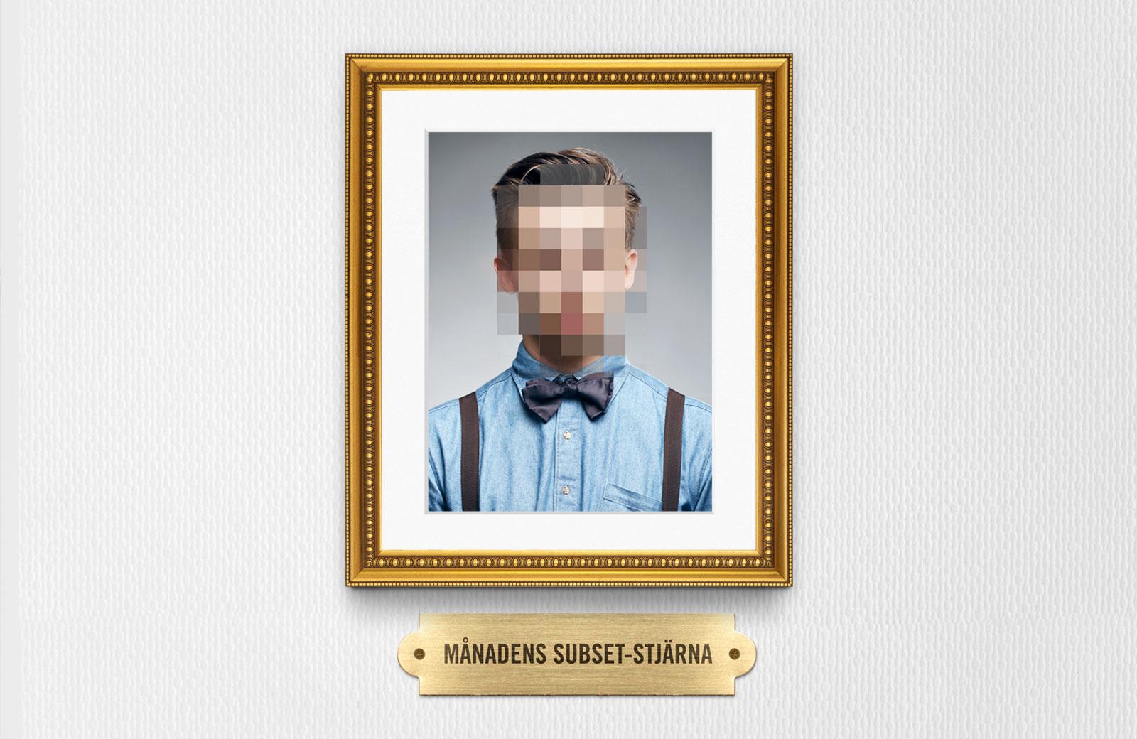 Pixlad annons för Subset, Sveriges kanske hemligaste arbetsplats.
