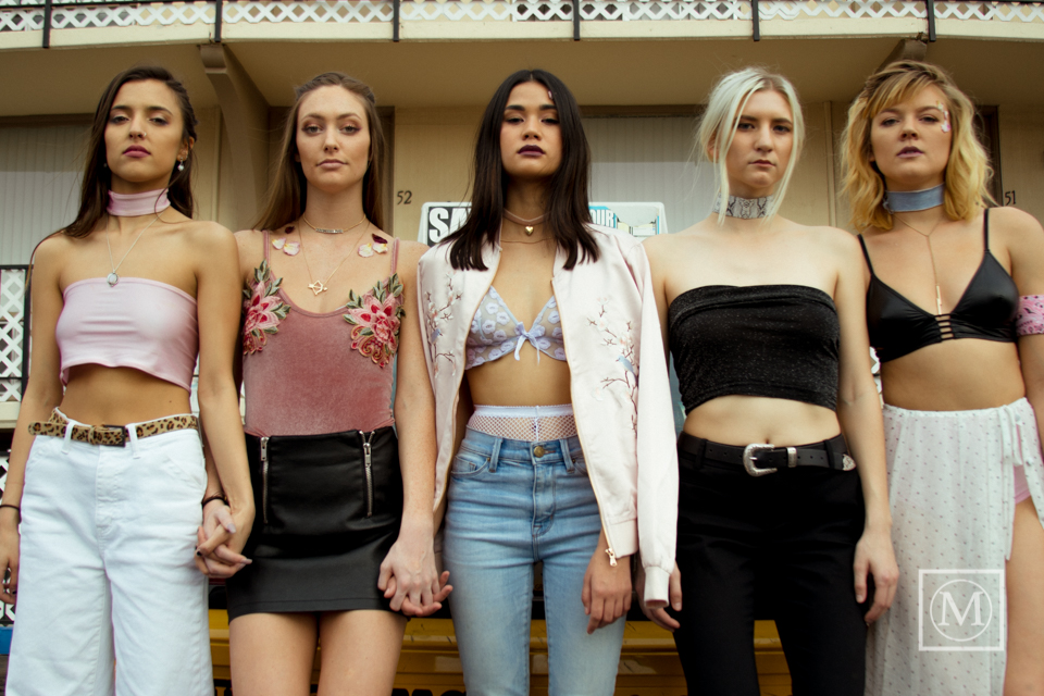 Girl Gang: Styled by Jen Huko (Second from the right) - February 2017