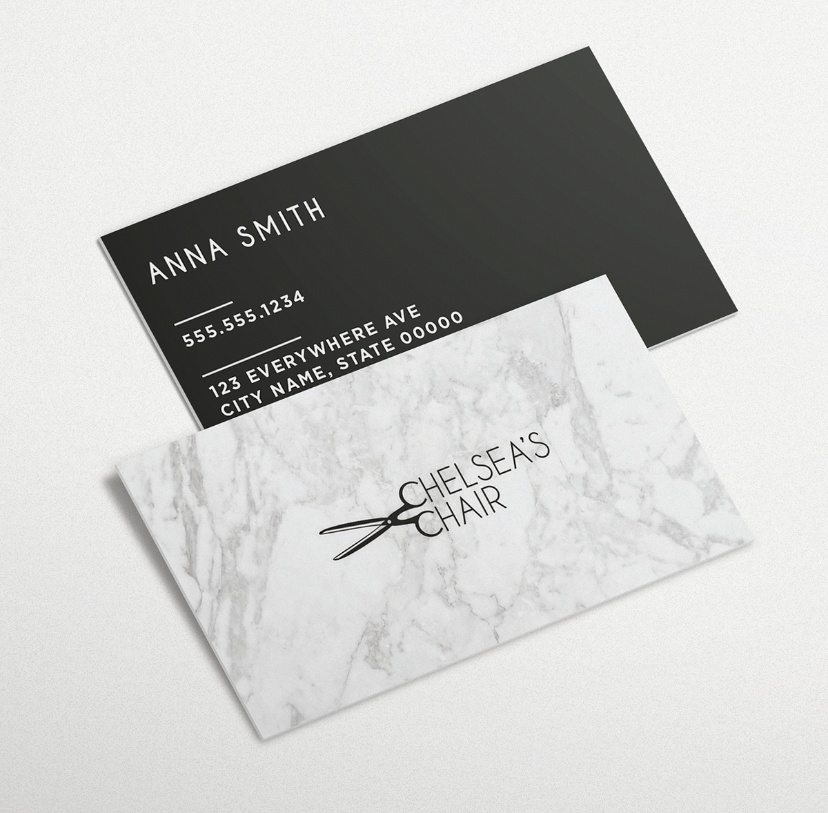 Chelsea's Chair Business Cards