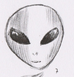 For a quick exercise. .here is the Grey alien. It is an iconic image, and well known type of 'alien'. The signifying word here is Alien. The image/illustration itself is the signified or icon.