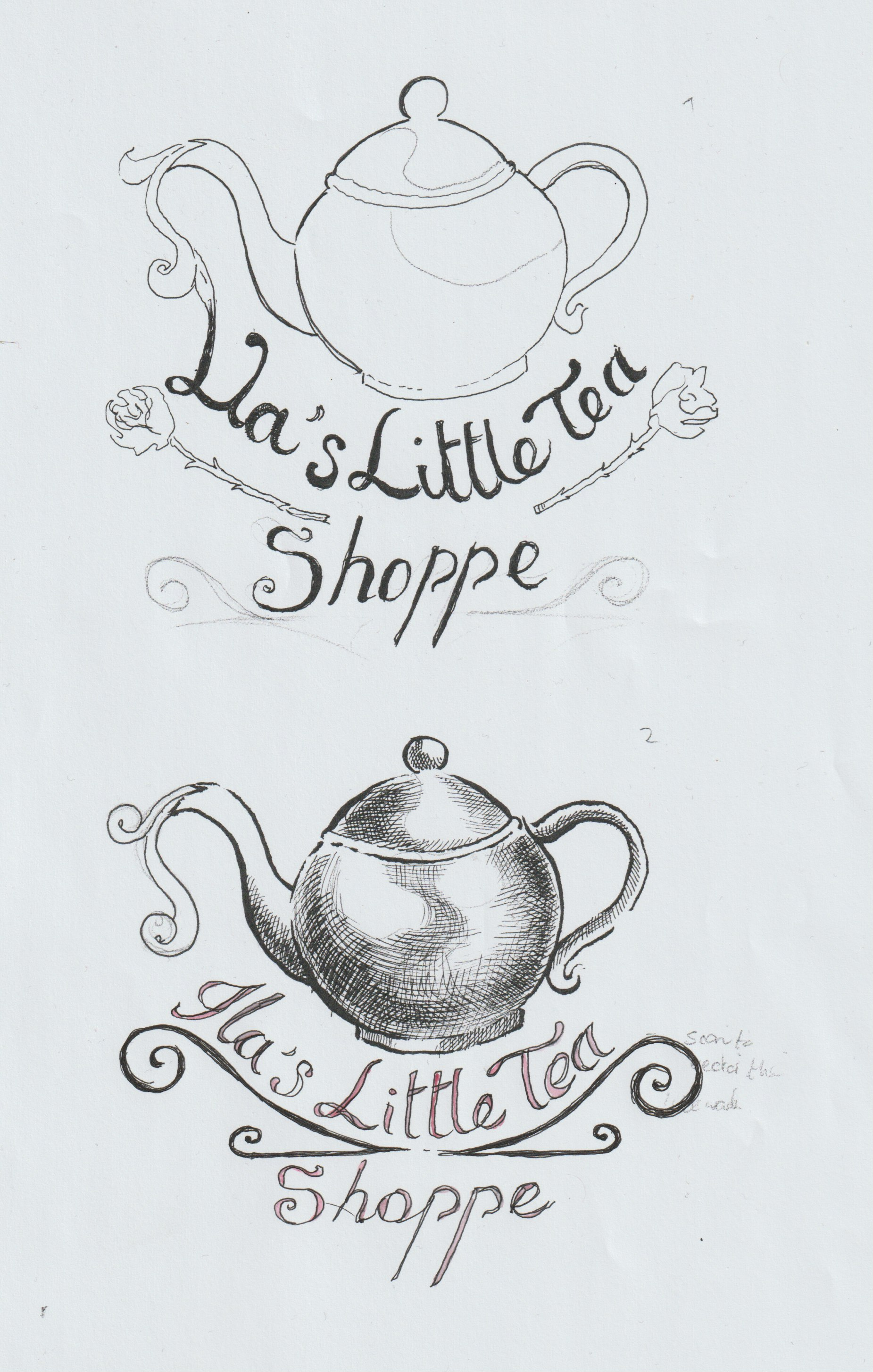 First initial thumbnails for the shop's logo for Ila. Ultimately this proved to be one of the stronger designs out of the others I had then proceeded to develop later on. With a more customized calligraphic inspired typeface.
