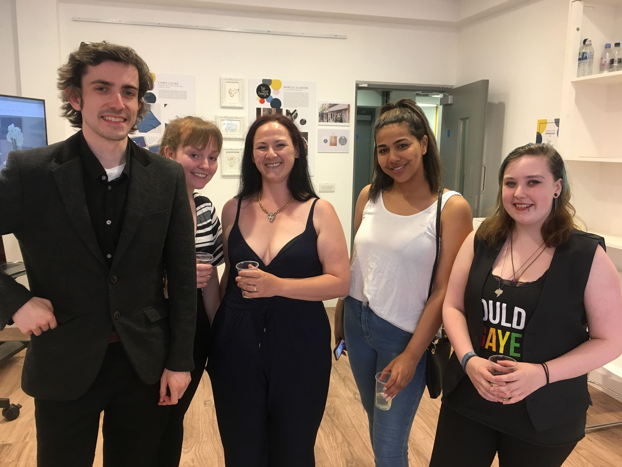 Me, Kirsten, Victoria, Imaani and Exza (part of TopFloorDesigns) at our preview night at Broadway Gallery last week.