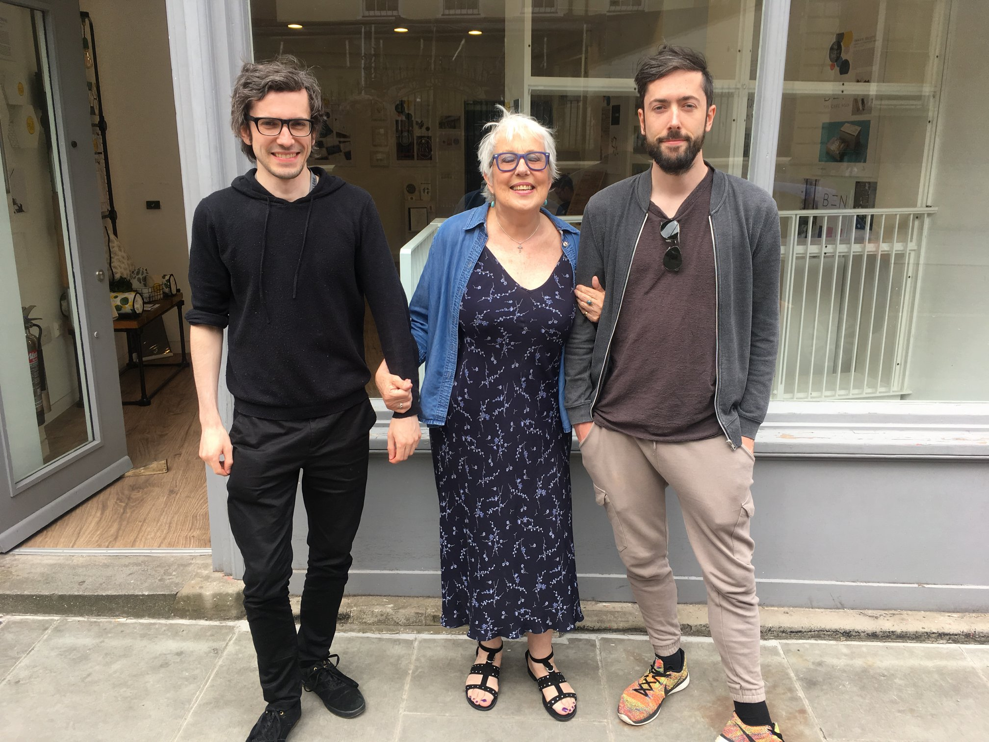 Here is me, my mother and my brother Sam!