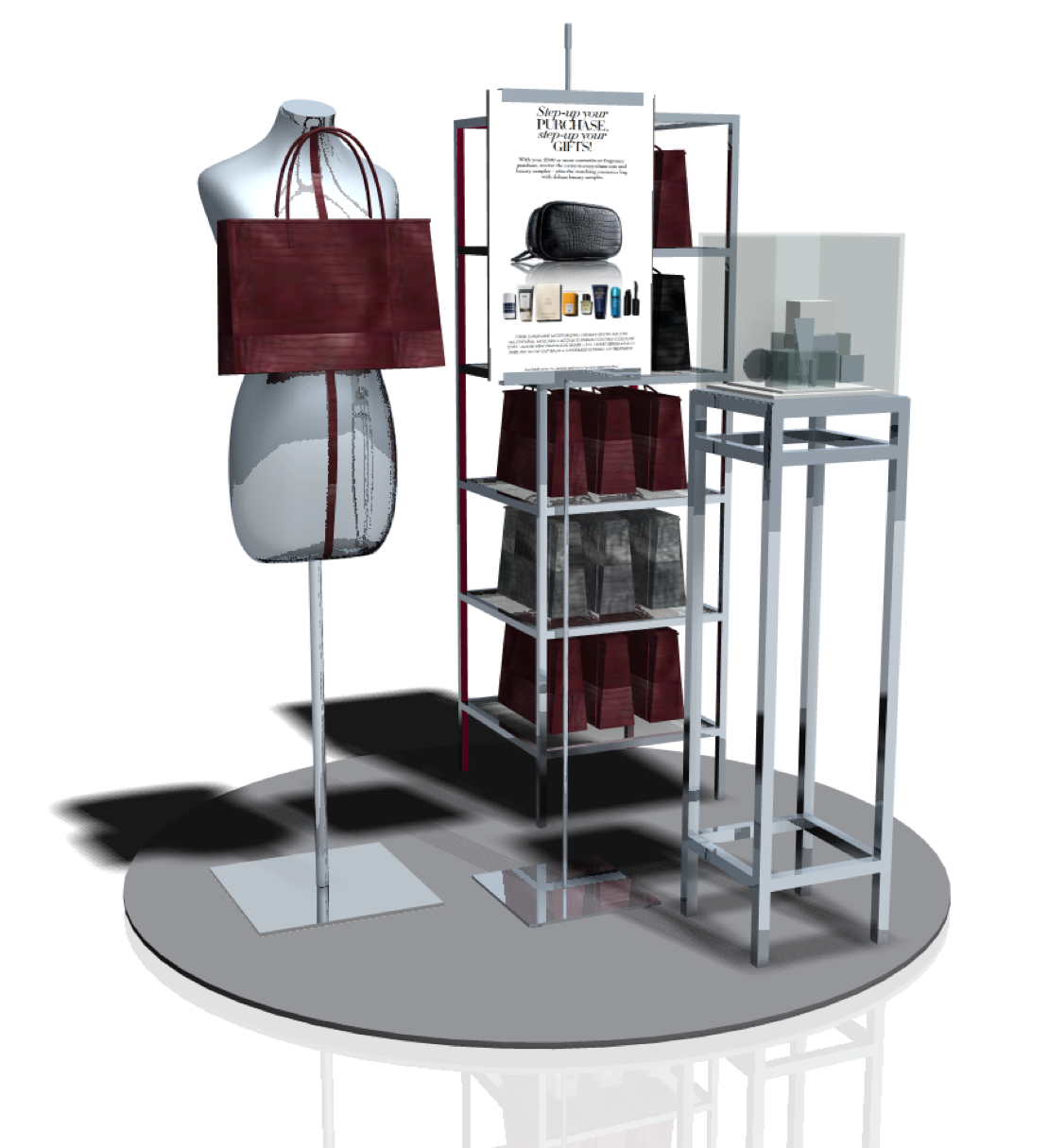 vertical displays design handbags