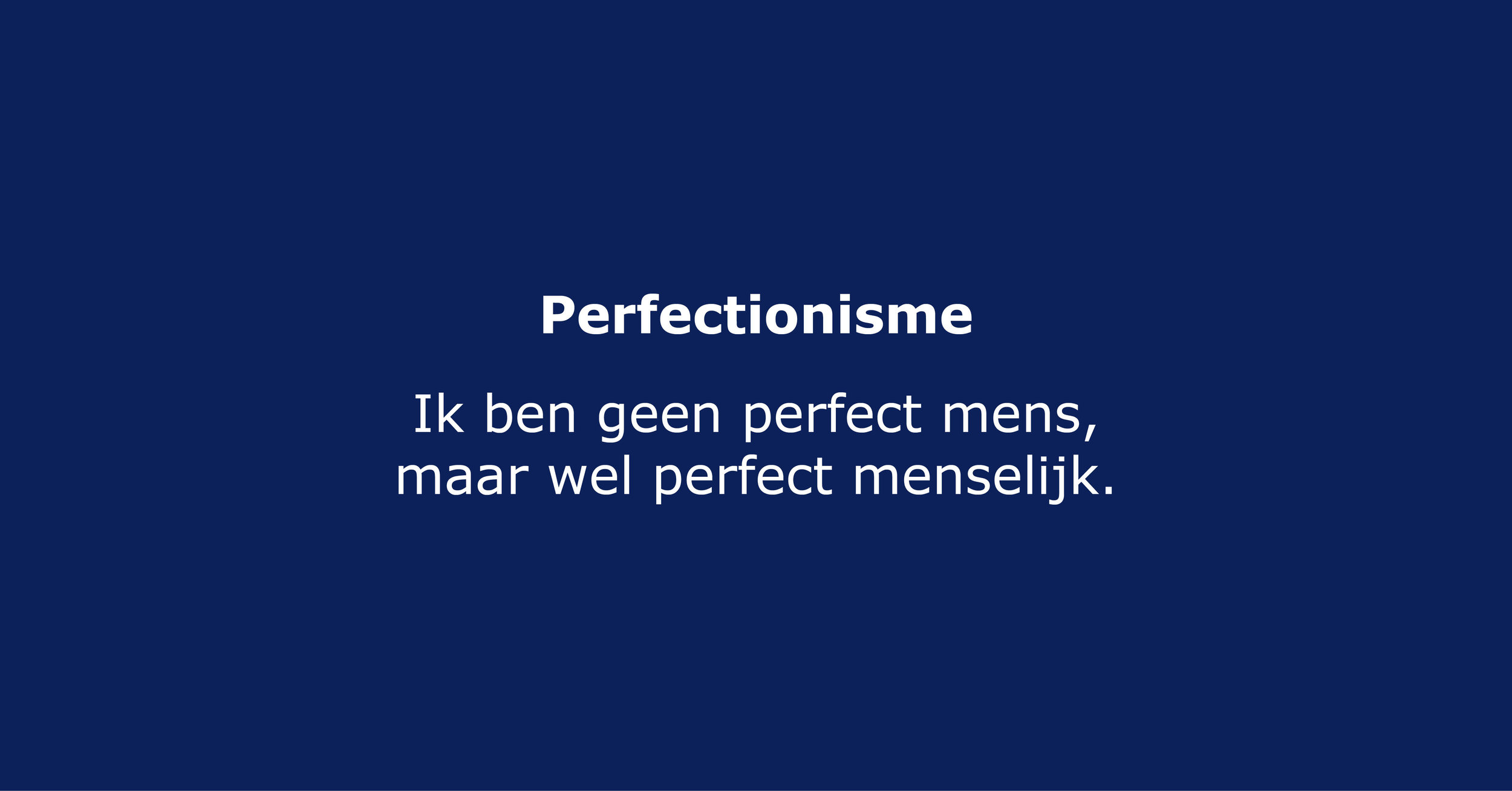 Perfectionisme artikel Instatera.org