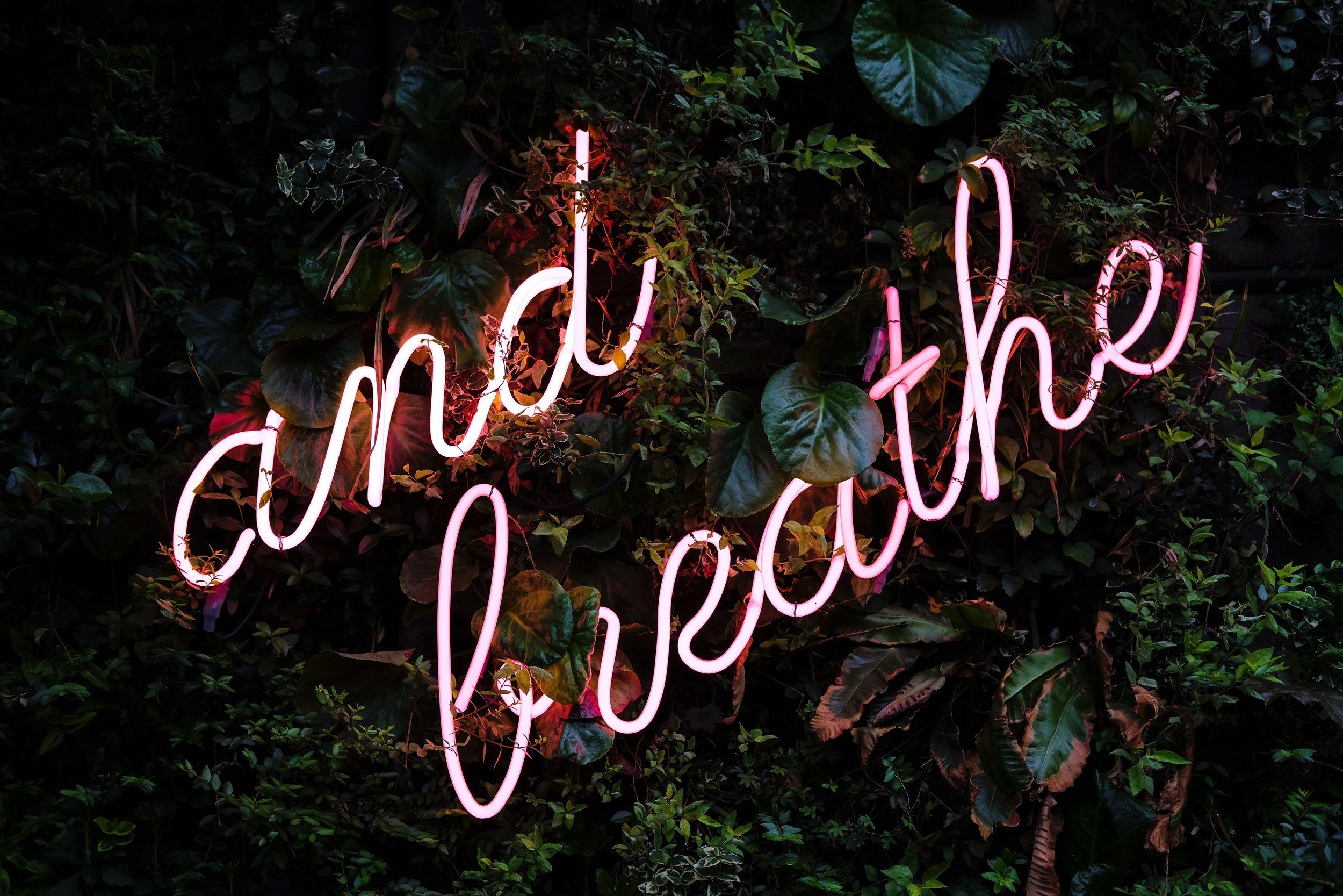 and breathe - ademhalingsoefeningen