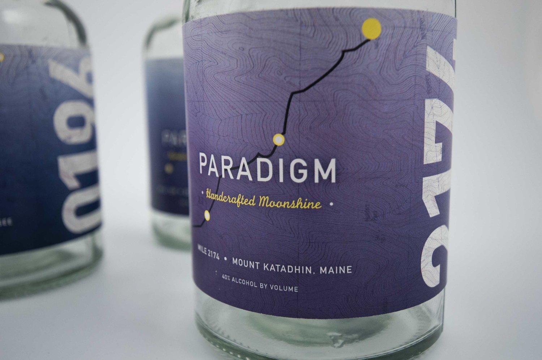 Paradigm Handcrafted Moonshine - branding & package design
