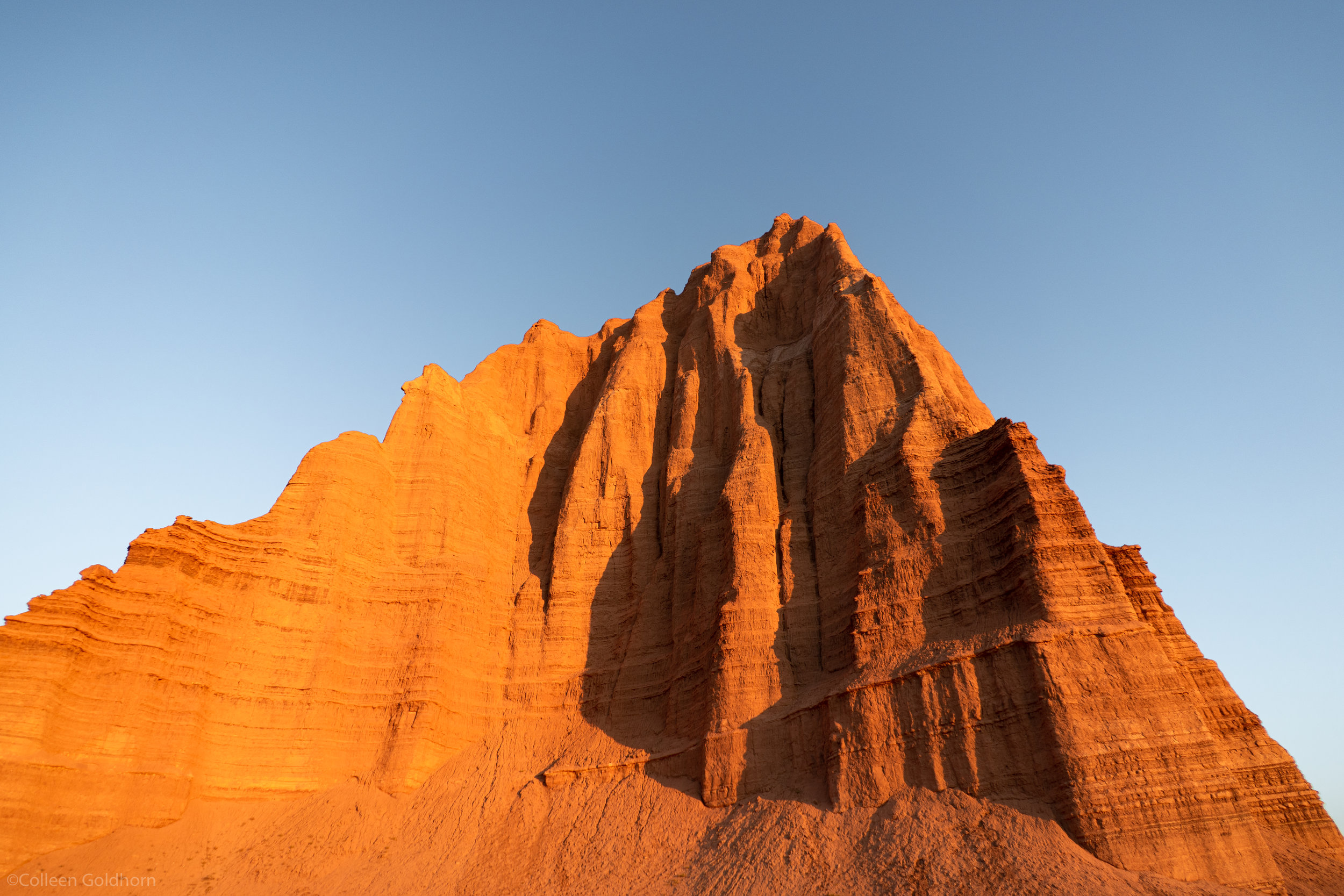 The vibrancy of the rock reflecting the morning sun was almost unreal…