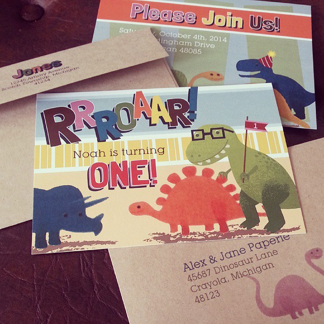 ROAR! T-Rex Dinosaur Birthday Invitation