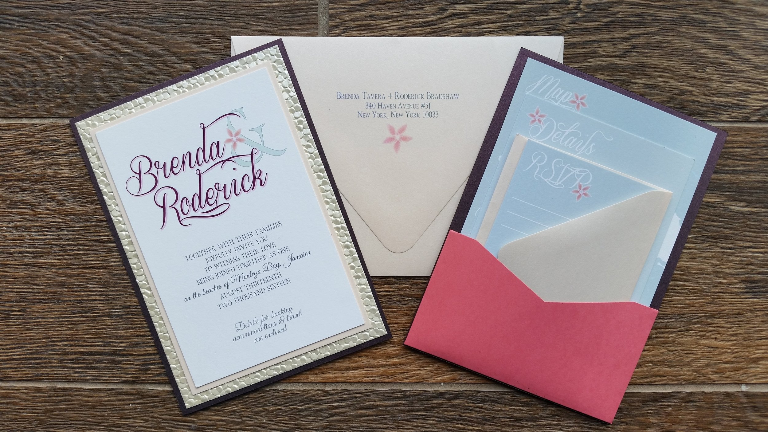 Layered Pocket Wedding Invitation