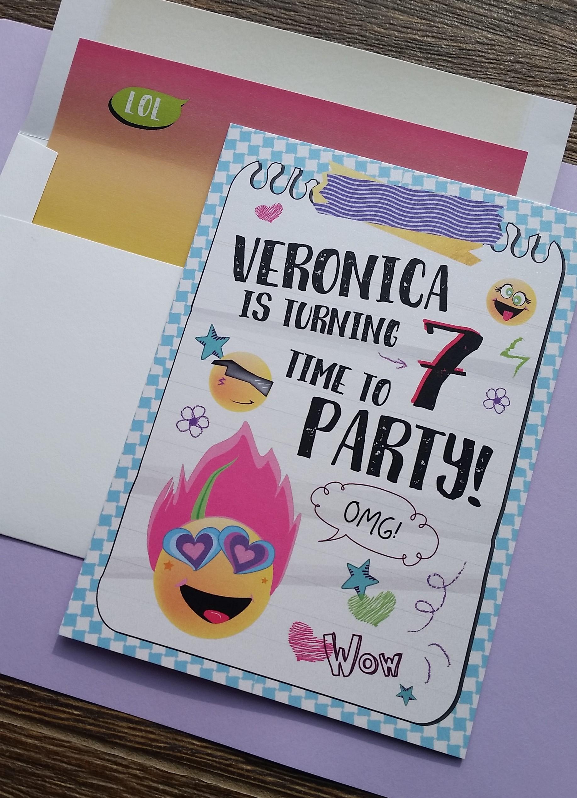 Custom Emoji Birthday Invitation Suite