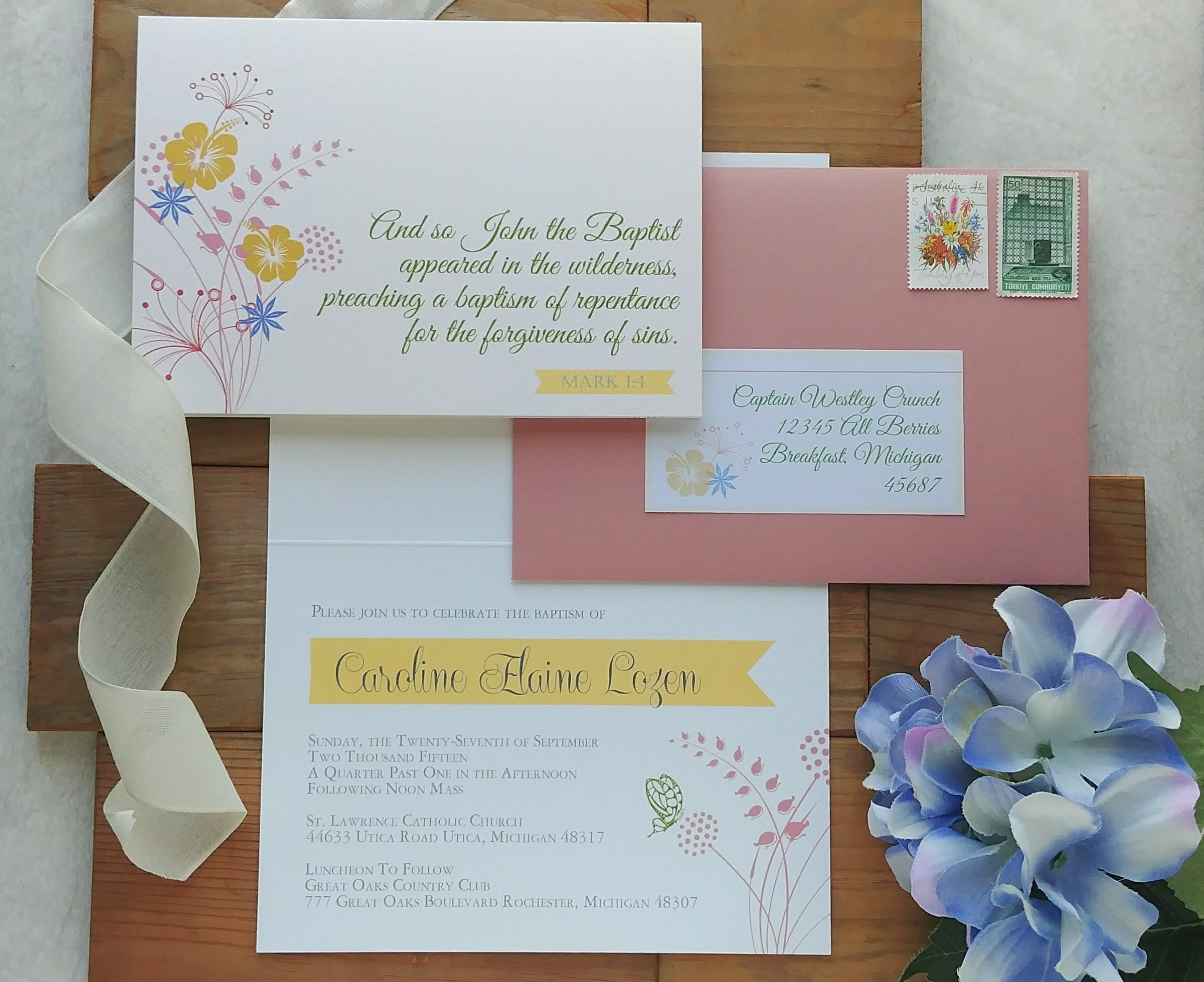 Rustic Prairie Baptism Invitation by Cordial Punch Press.jpg