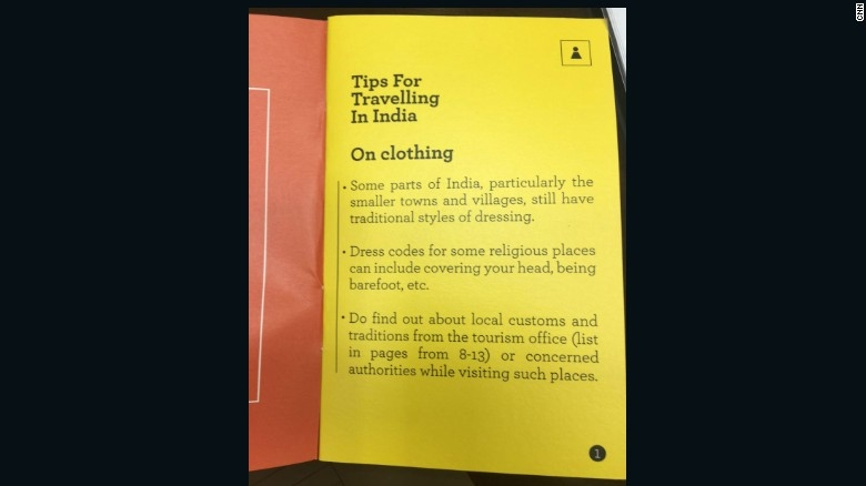 Image from CNN. The pamphlet has no mention of a skirt.