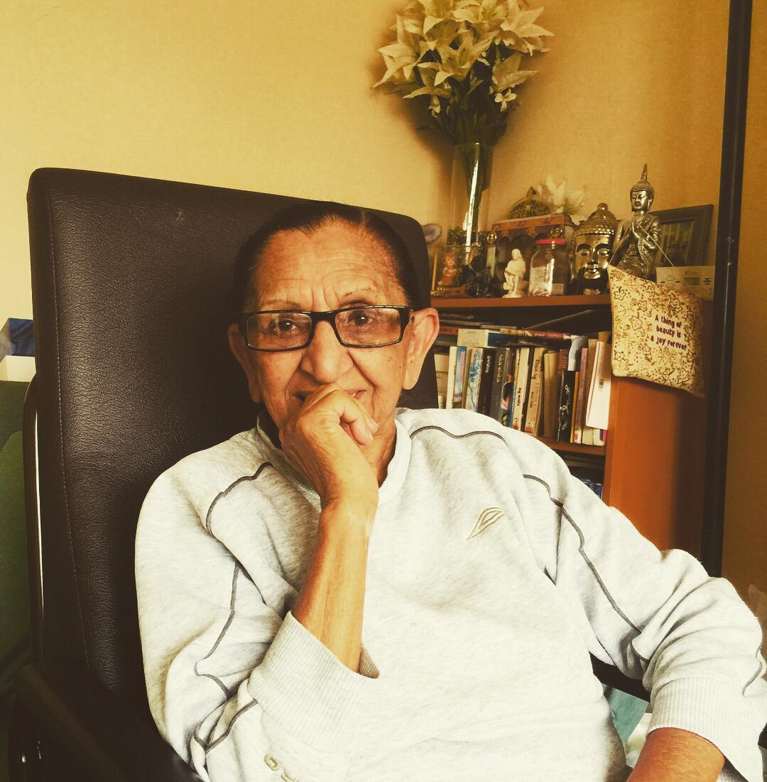 80 year-old Champa. Photo-credit: Jodie Ravina Champaneria