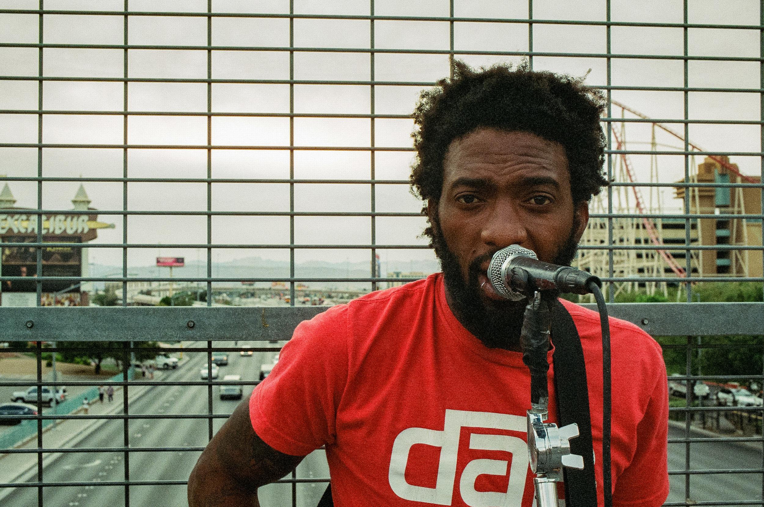 street performer in Las Vegas, Nevada
