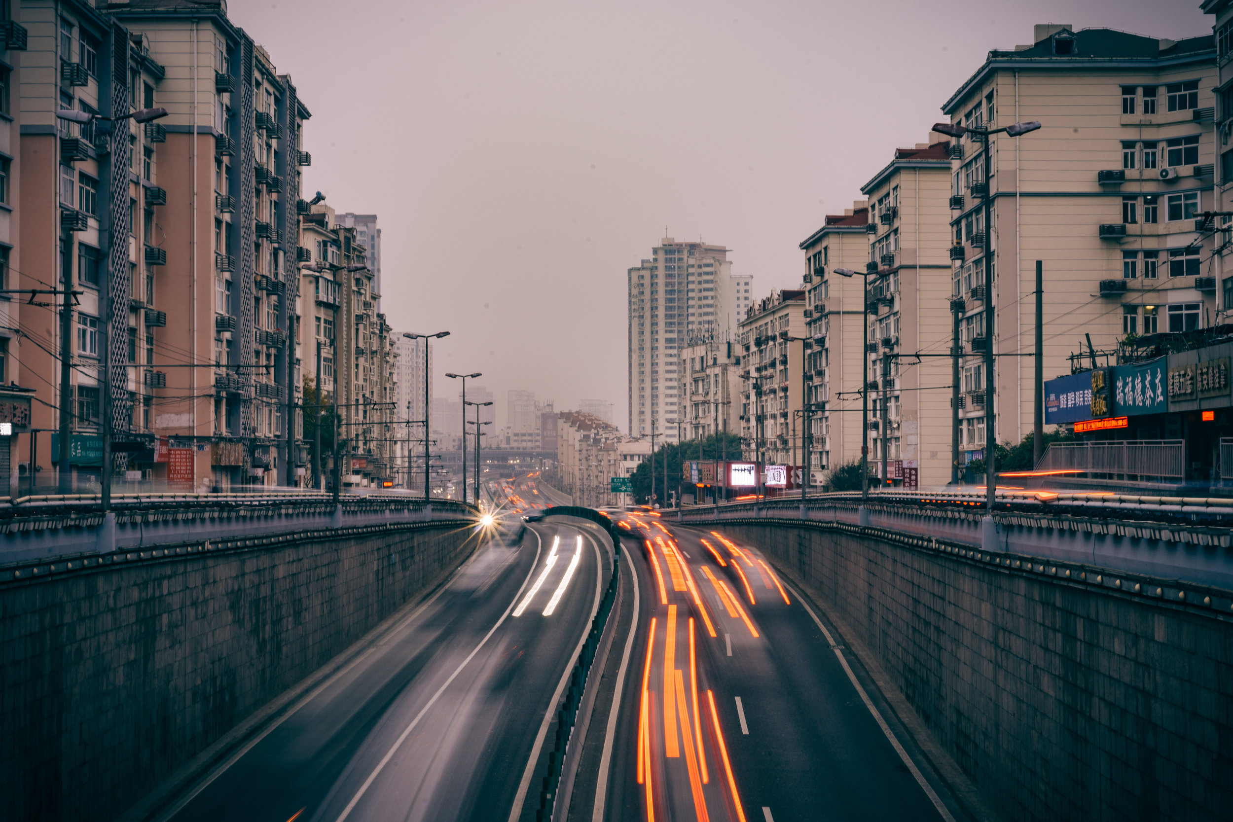 traffic in qingdao, china