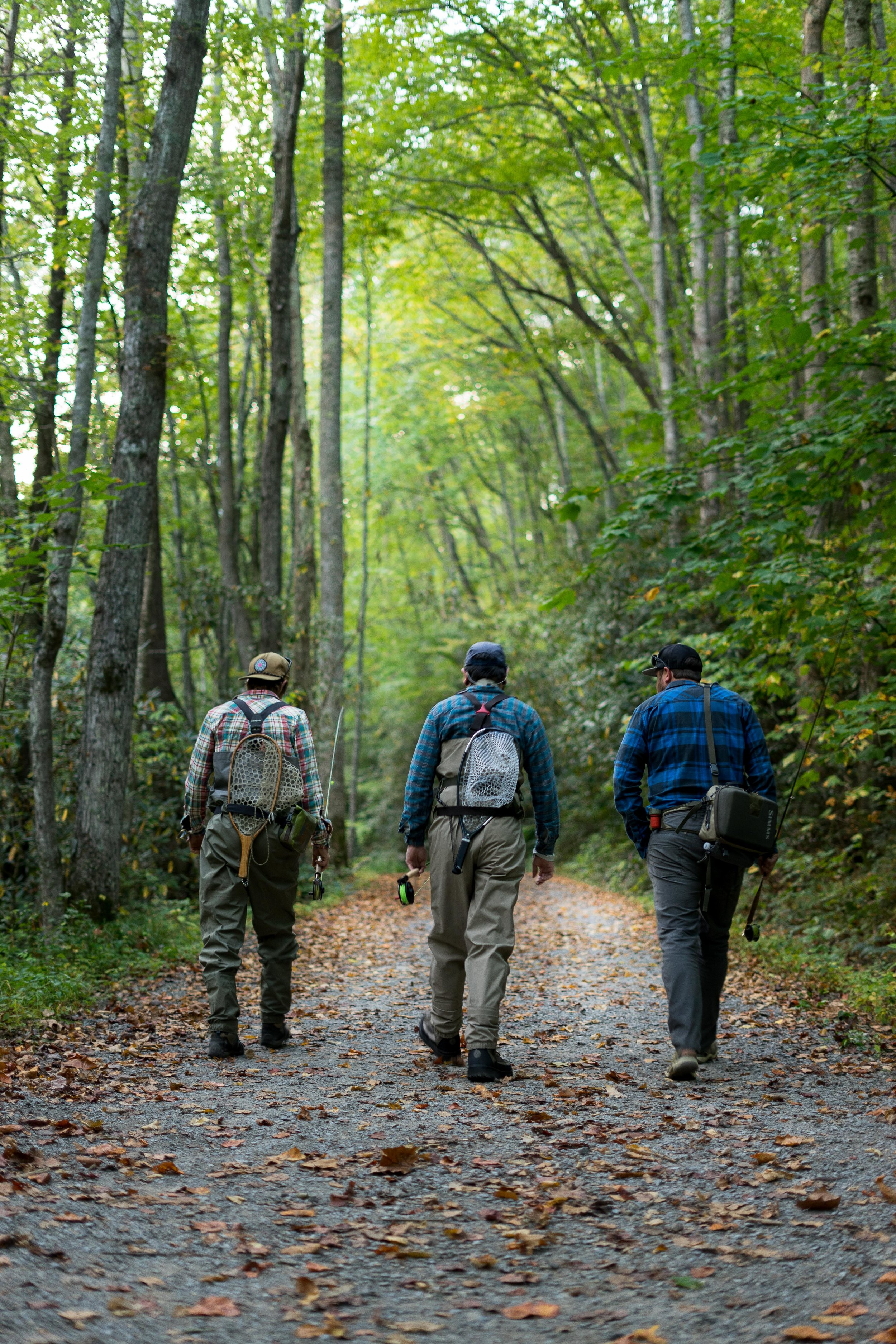 Boys headed out for a day on the Little River, Great Smokey Mountain National Park