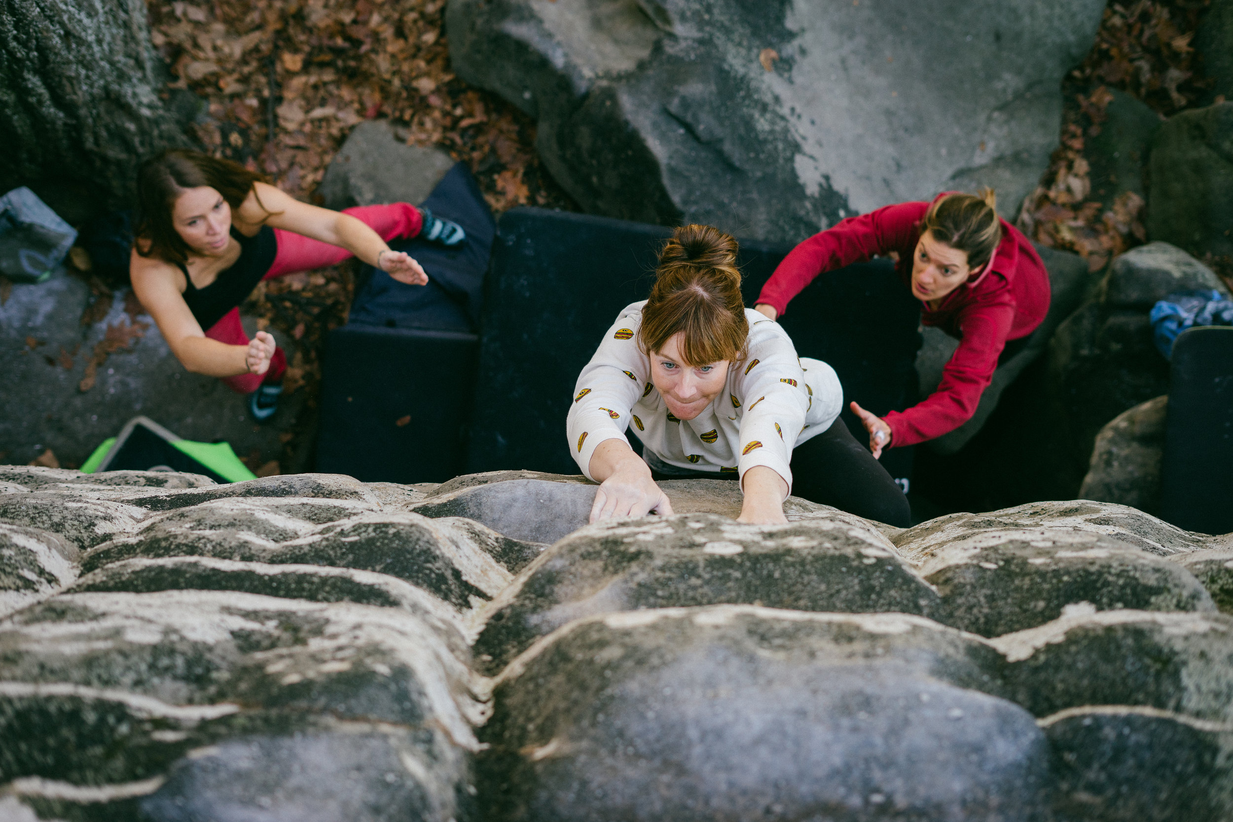 Bouldering at Stonefort near Chattanooga, TN