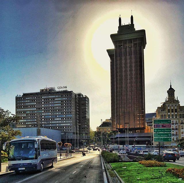 Torres de Colon.  #madrid #plazadecolón #spain #sightseeing #sun