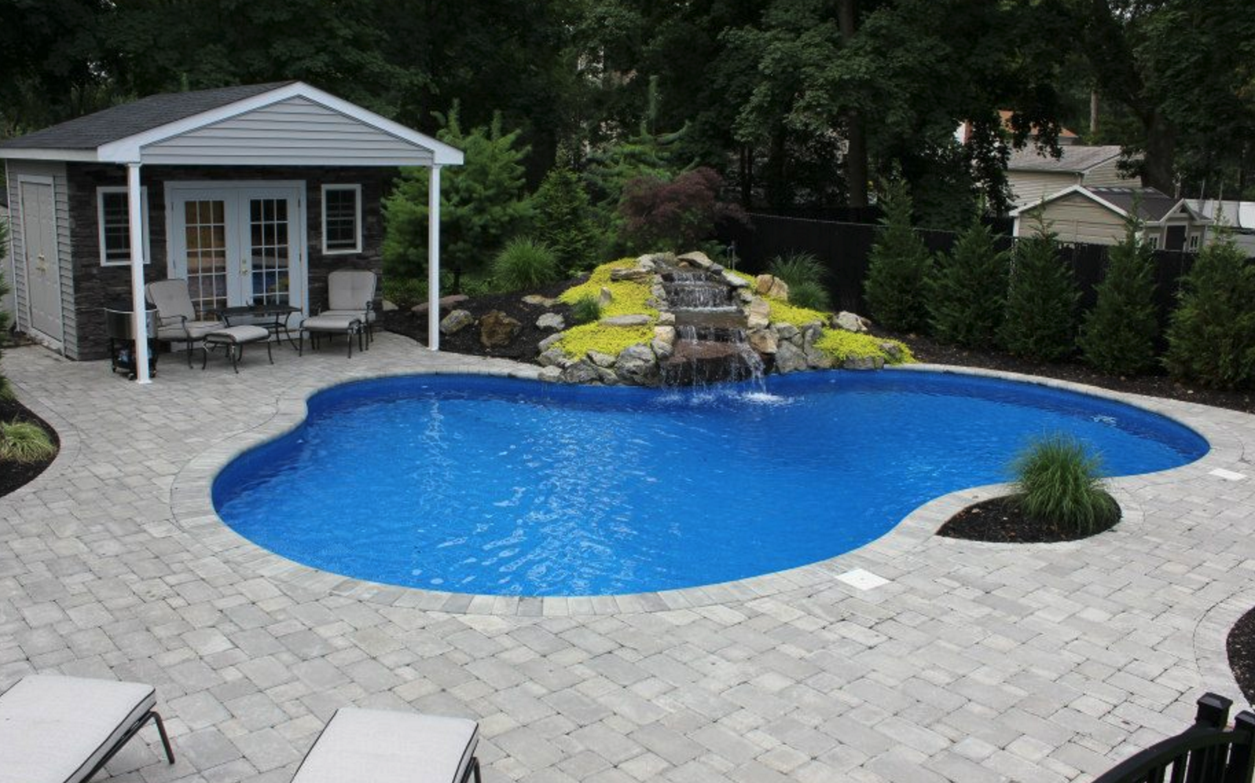 Gunite Swimming Pool Design in Riverhead, NY