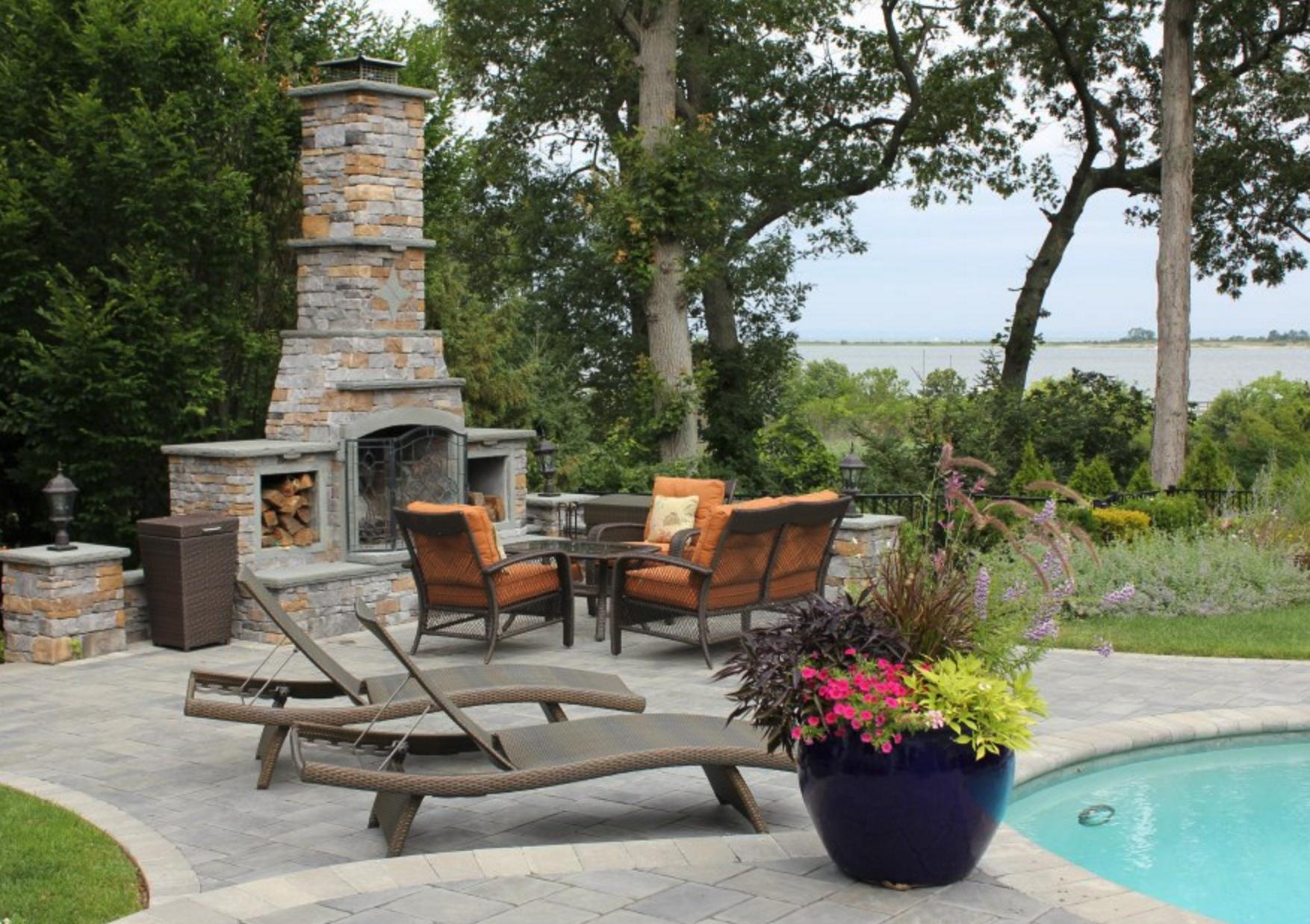 outdoor fireplace Glen Cove, NY, East Hampton, NY