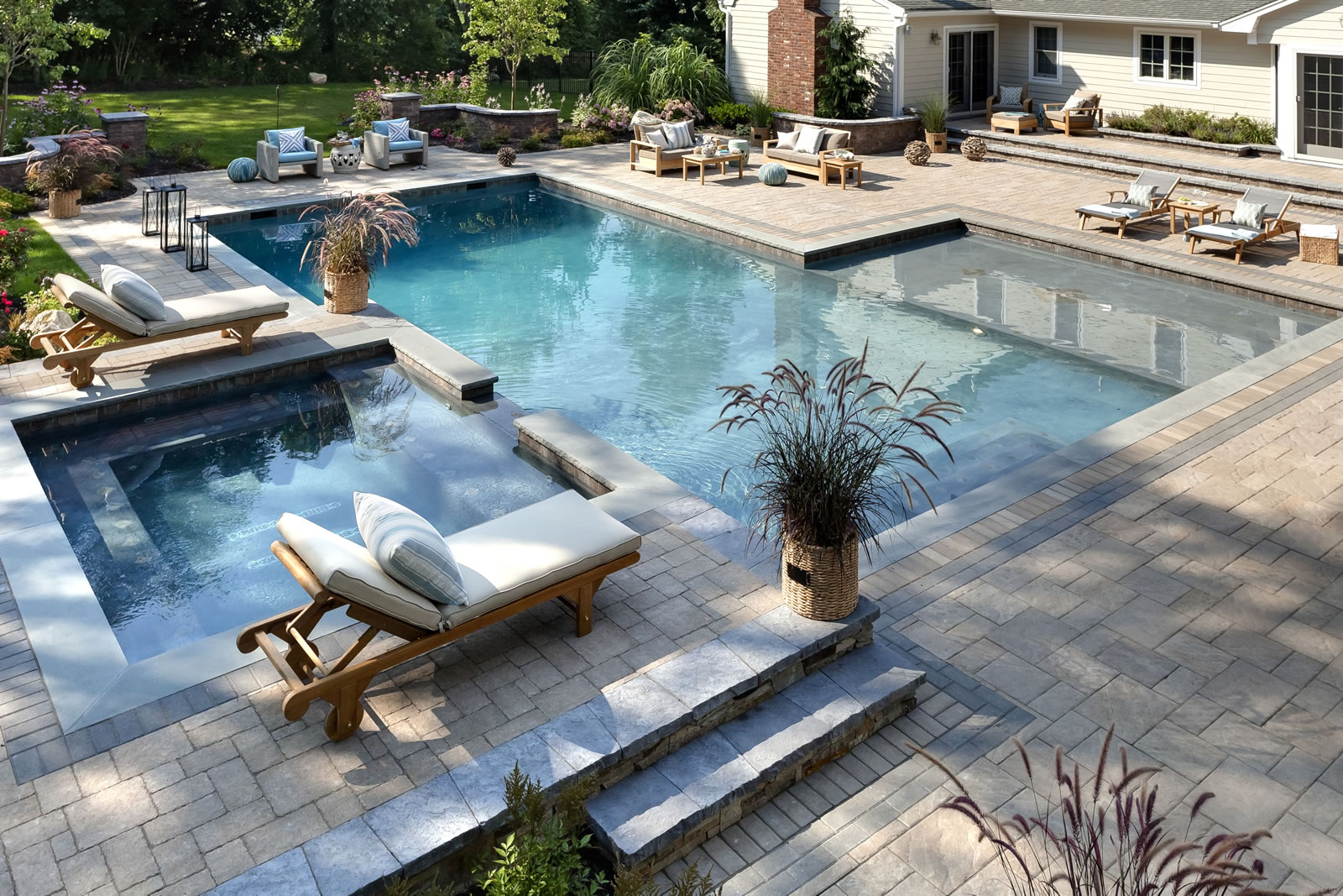 outdoor swimming pool spa brookhaven and glen cove, NY