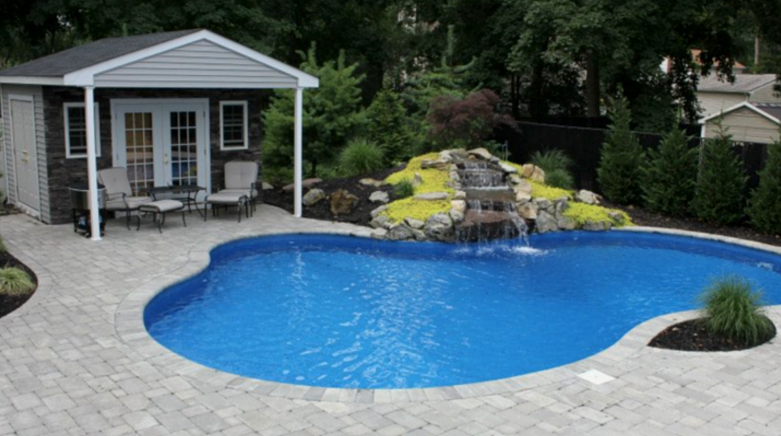 swimming pool and pool house in brookhaven and oyster bay, long island ny