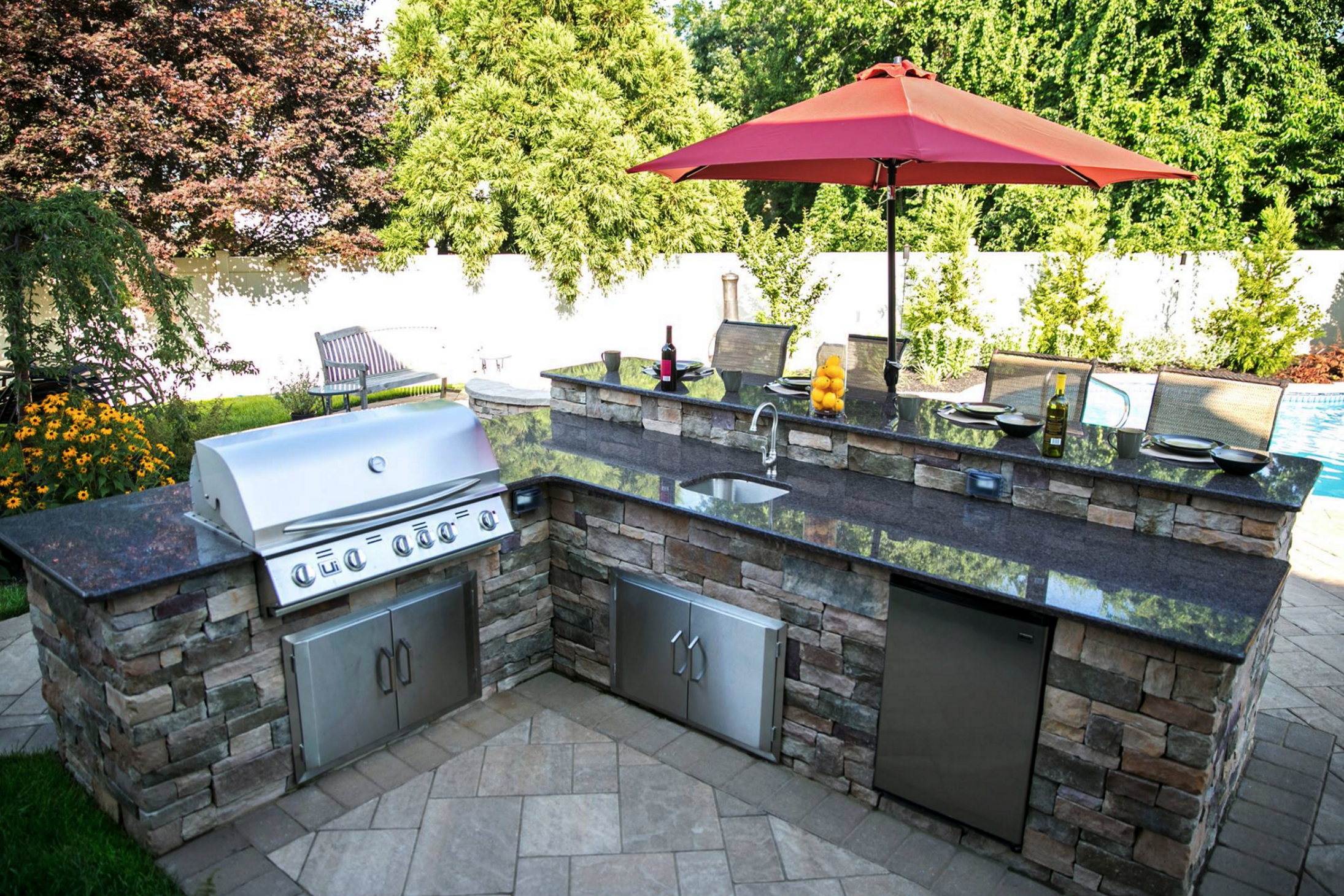 Outdoor Kitchen Design and Installation by Platinum Group in Long Island, NY
