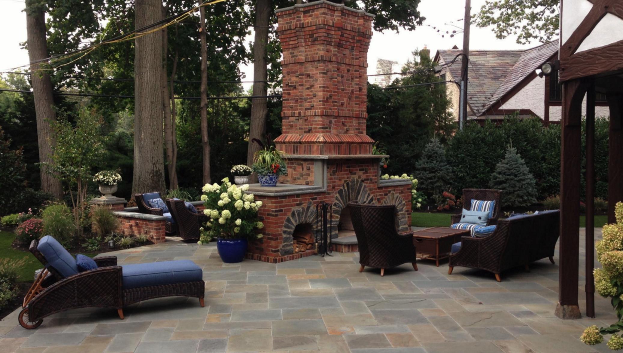 Outdoor Fireplace Long Island, NY   Custom Masonry Design   Gunite Pool Builder