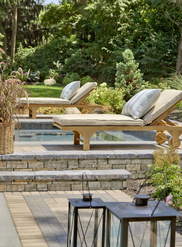 Landscape Design with lighting in Glen Cove, NY