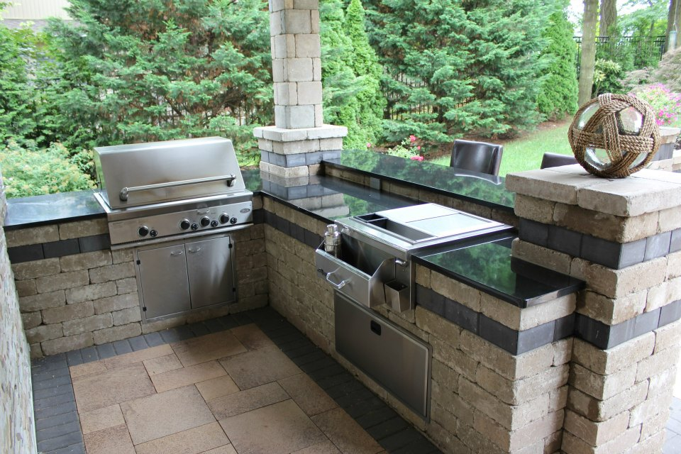 High Value Elements For Ny Outdoor Kitchens Landscaping Salt Water Pool Islip Ny Outdoor Fireplace Glen Cove Ny The Platinum Group