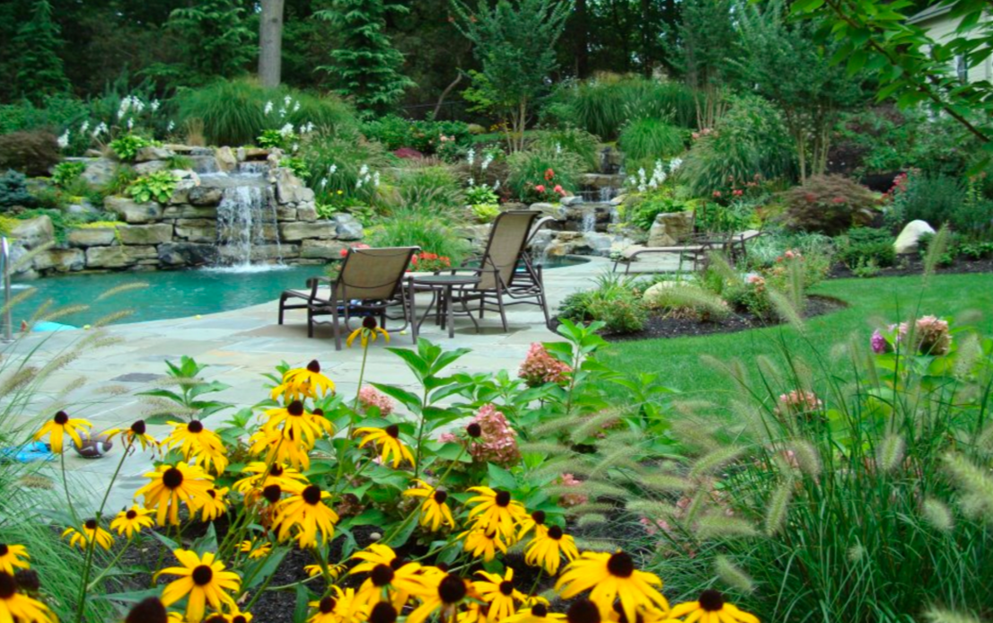 Lush outdoor living spaces  Landscapes & Plantings    view our work