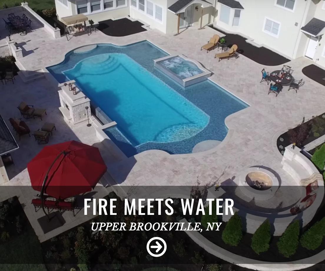 Gunite pool in Upper Brookville, NY