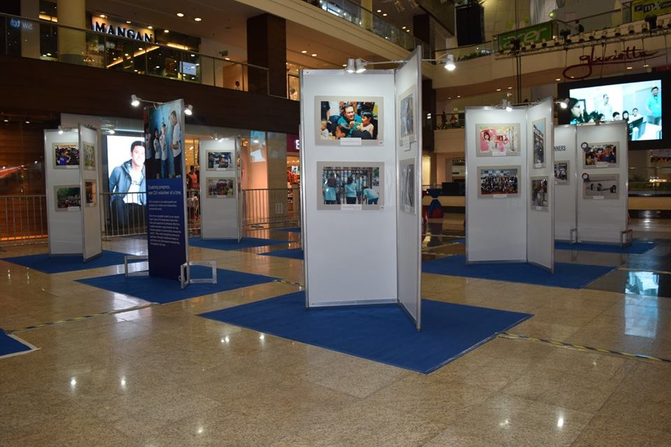 Some of the photos at the exhibit. Photo courtesy of Amcham Foundation