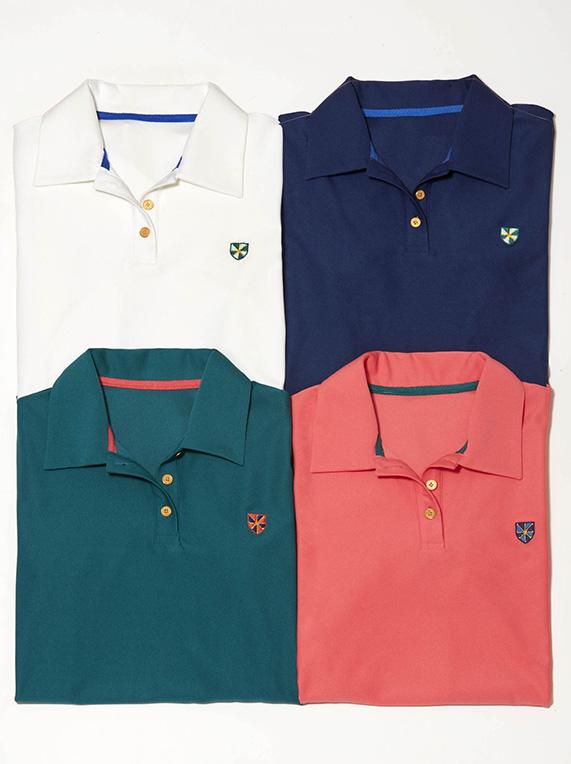 Assortment of t-shirts from meg campbell golf