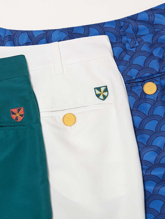 close-up of golf pants