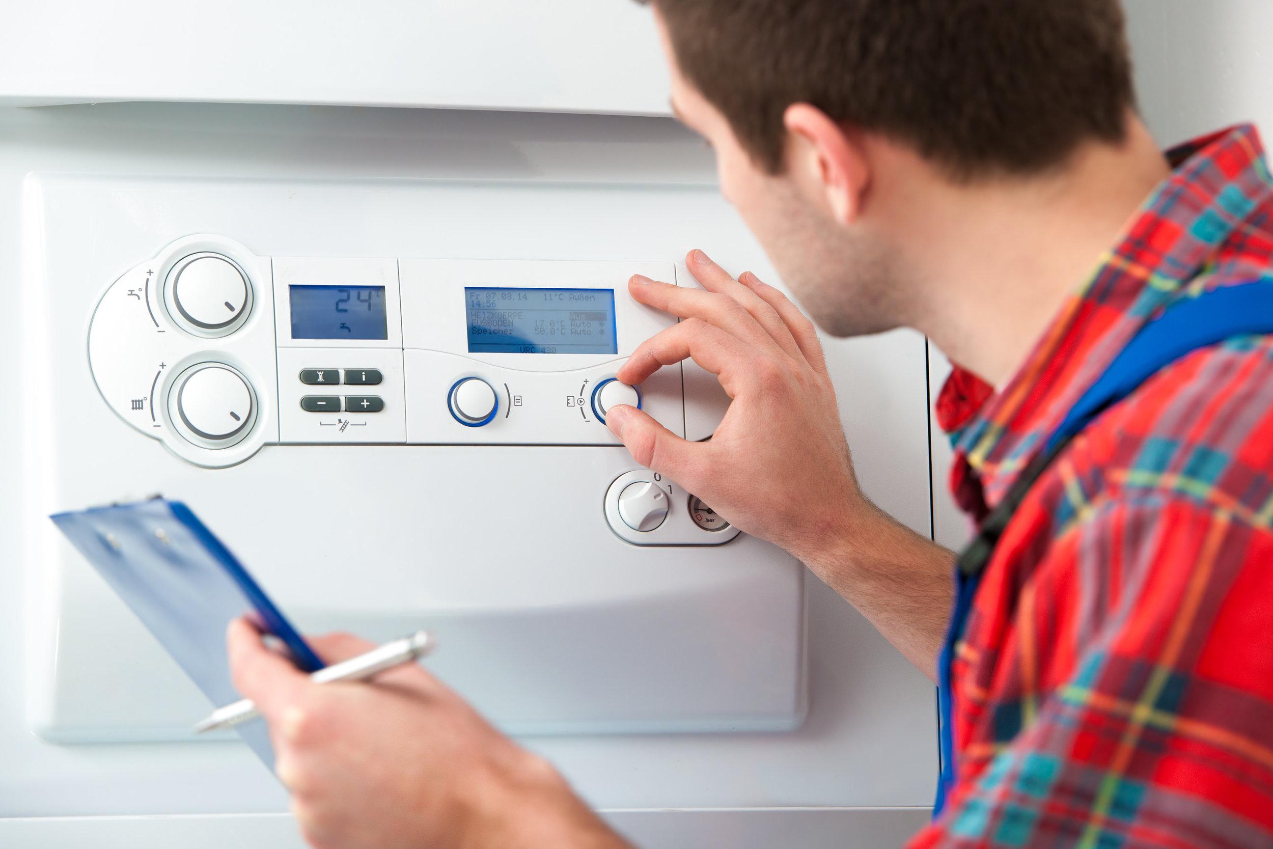 Boiler service gas safety check