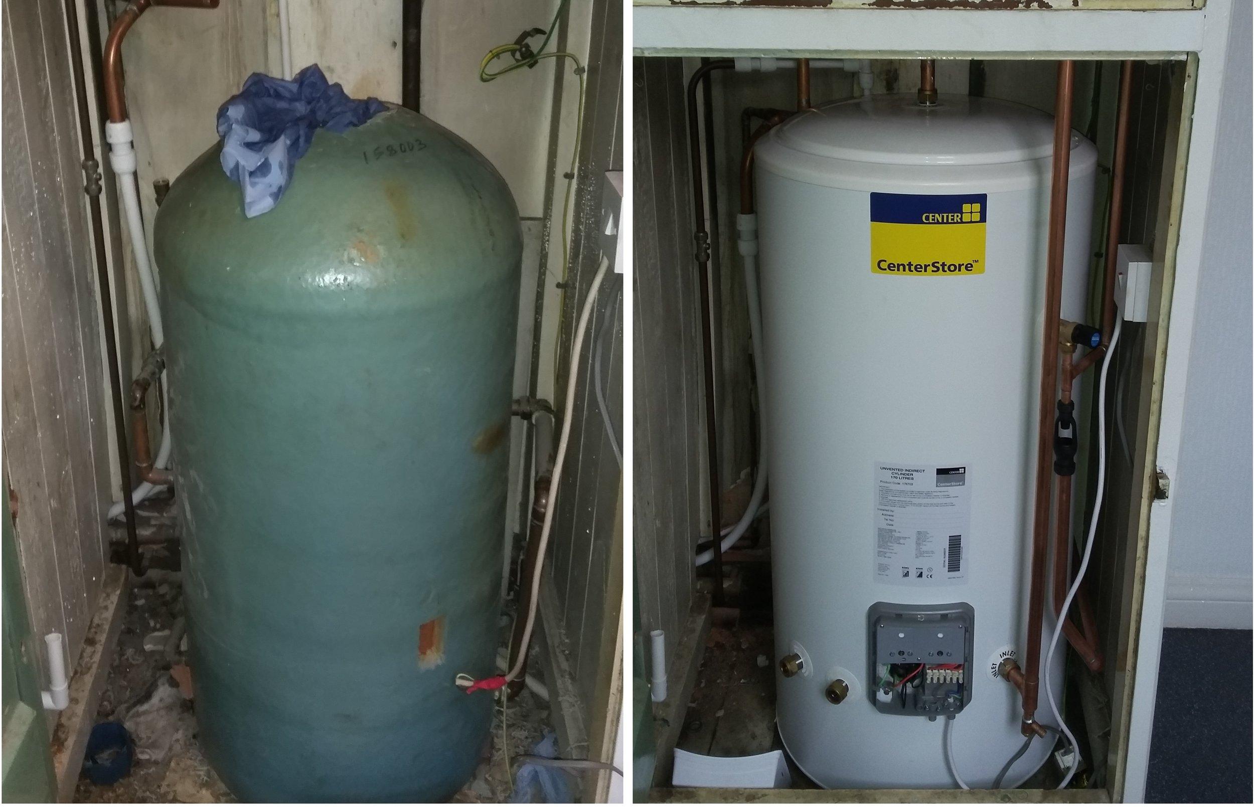 Client site saunders boiler