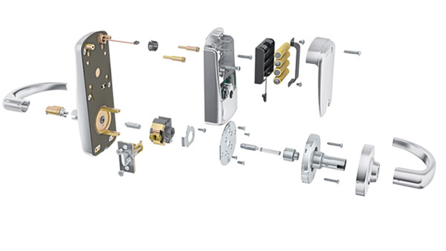CGI image of the inner workings of a door handle done by TRG Reality.