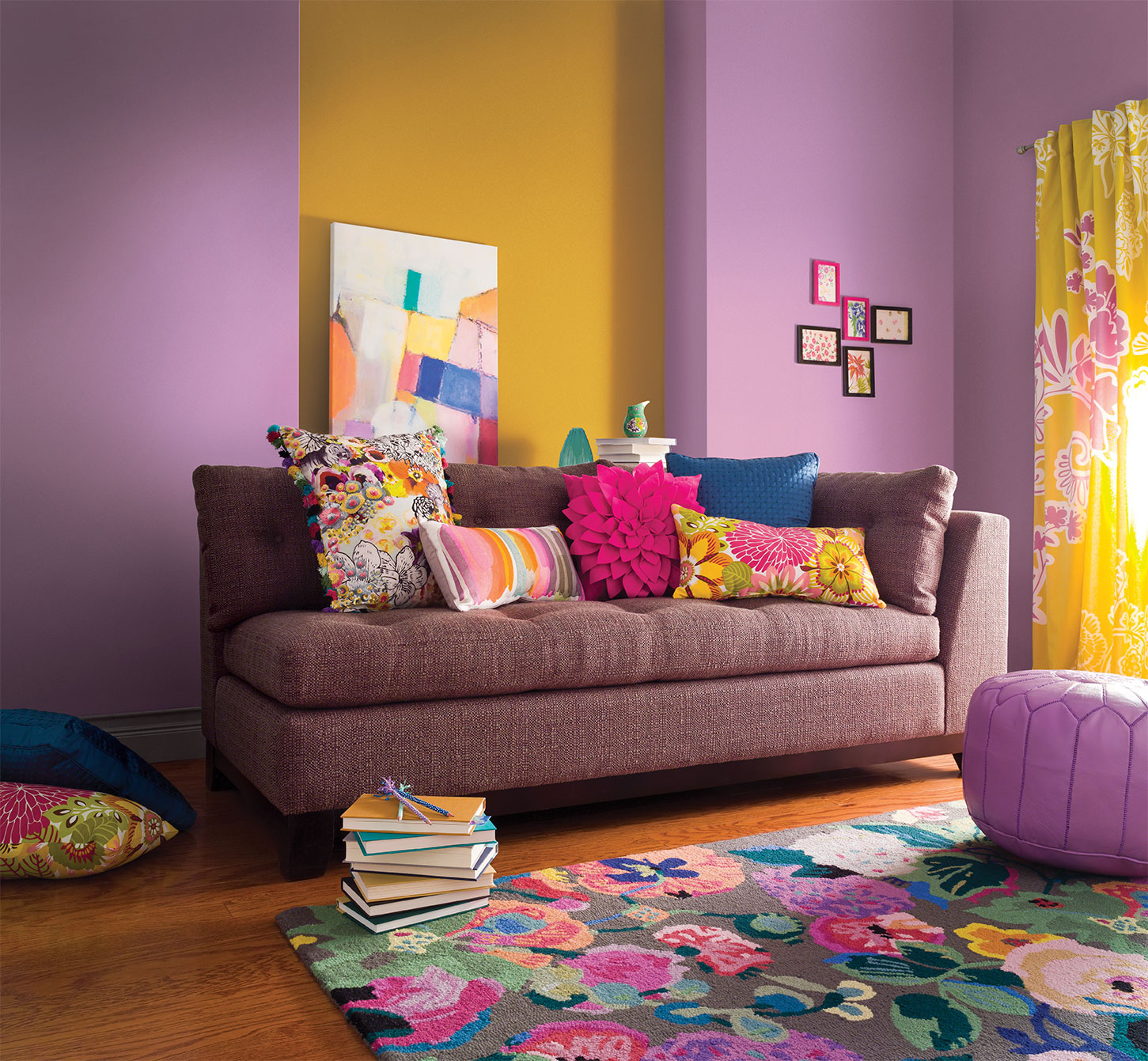 TRG Image of brightly colored couch.