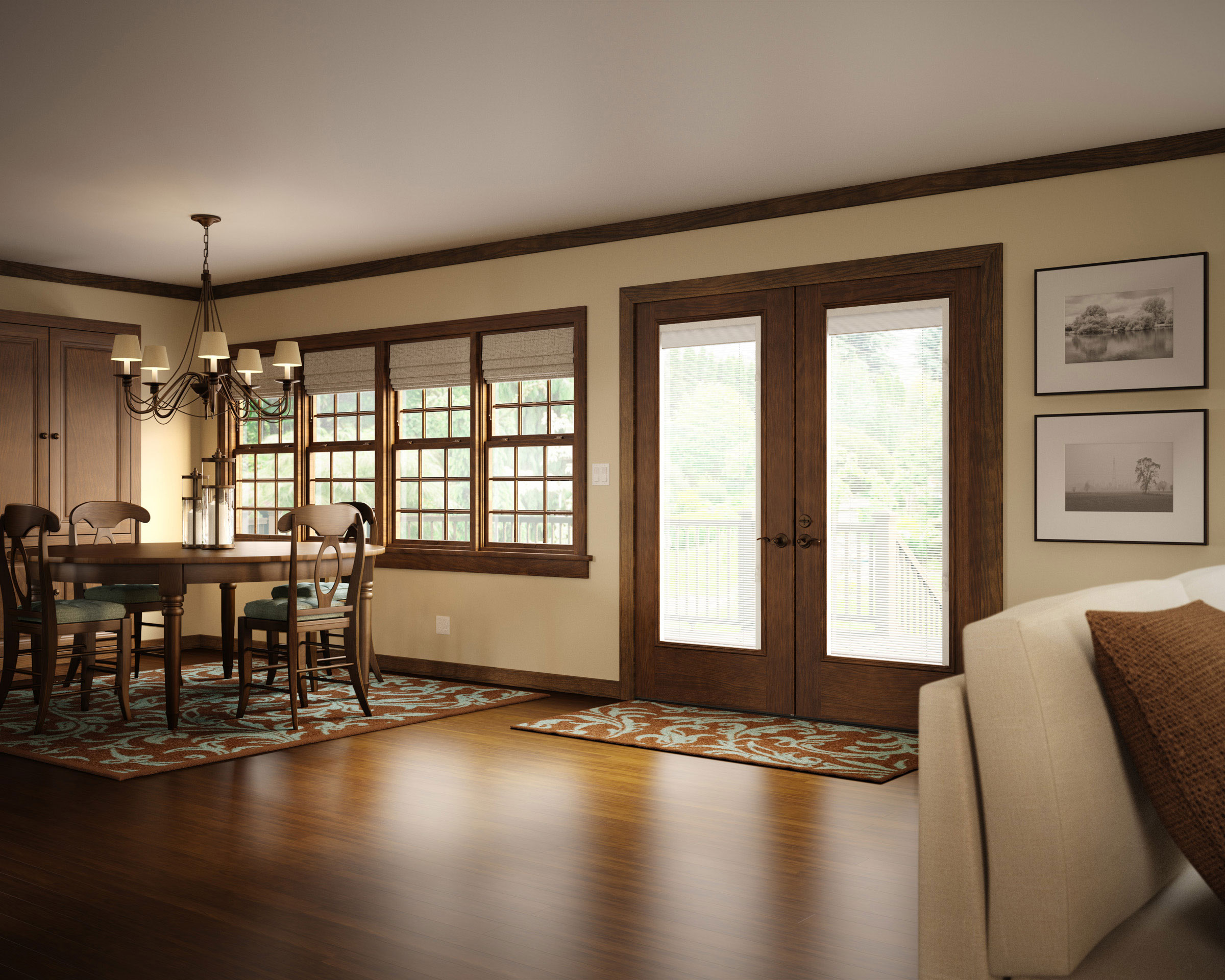 professional cgi image of dining space
