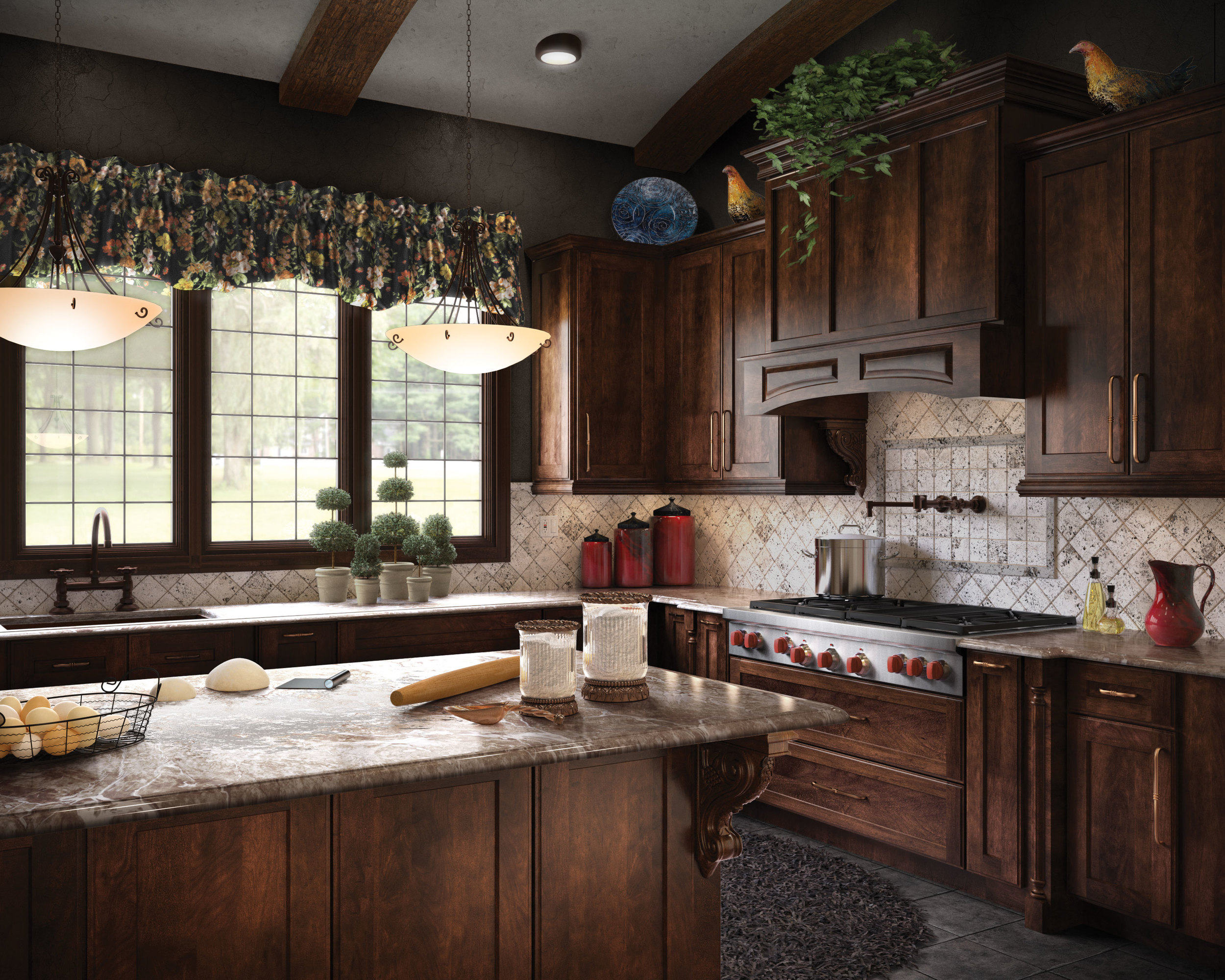 computer generated image of kitchen