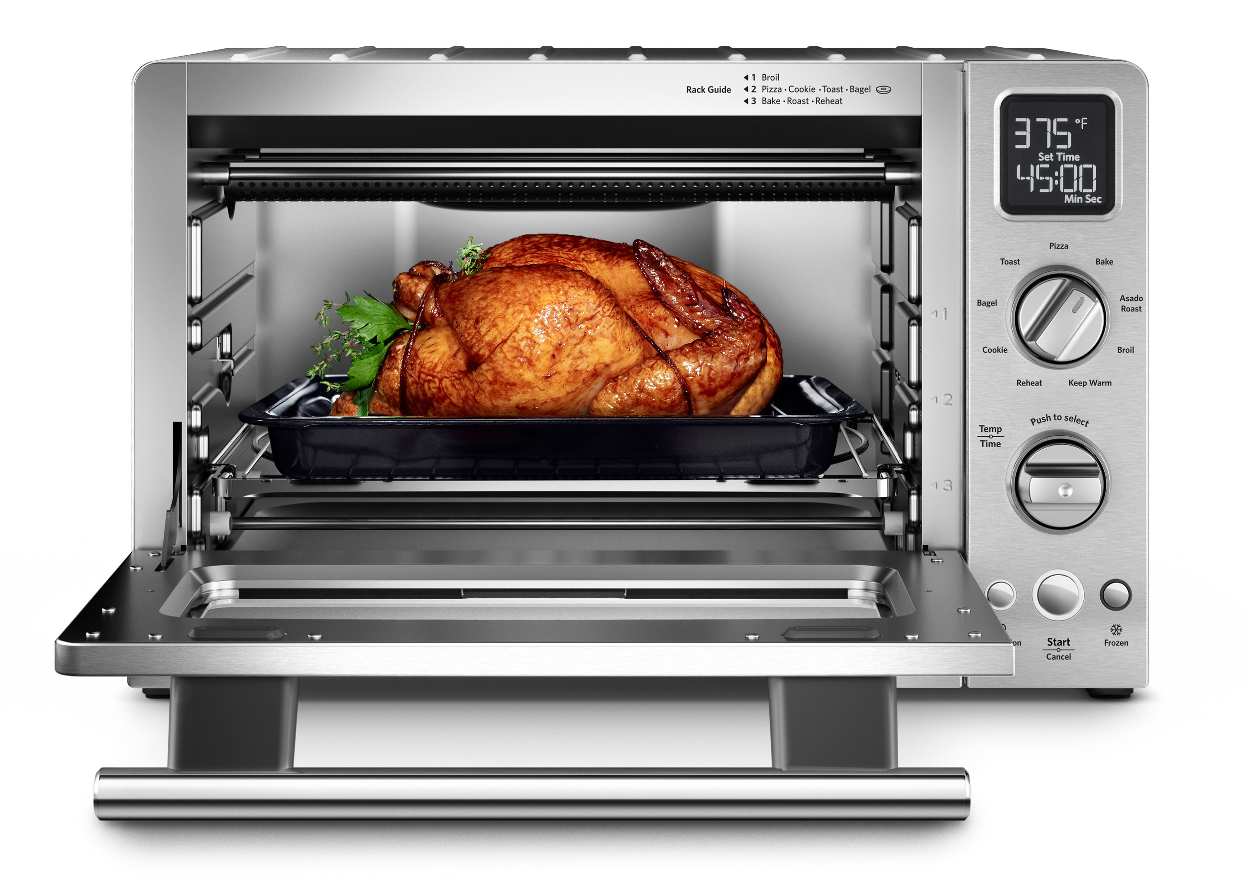 computer generated image of toaster oven with turkey
